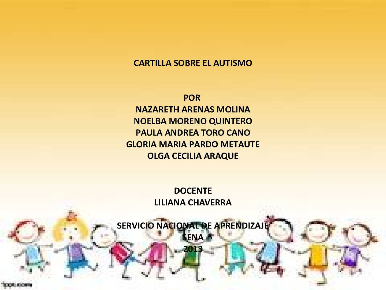 Calaméo Cartilla Virtual Sobre Autismo Calaméo Cartilla Yvbf6g7y