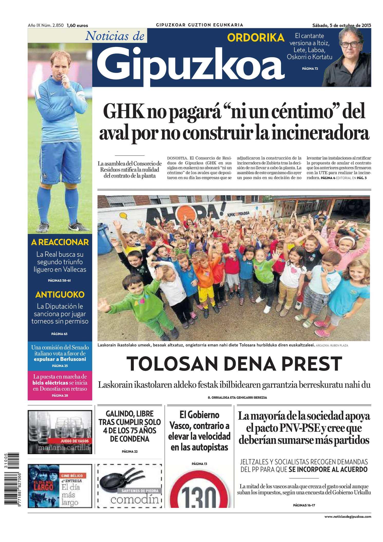 9a7d333ba38 Calaméo - Noticias de Gipuzkoa 20131005