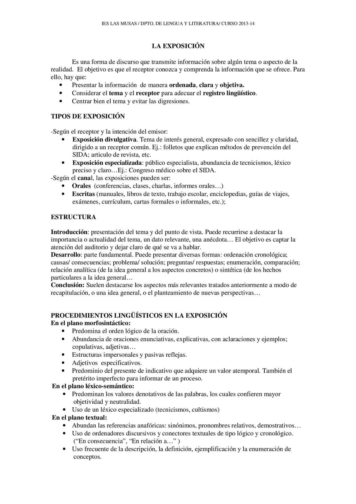 Calaméo El Texto Expositivo La Exposición Oral