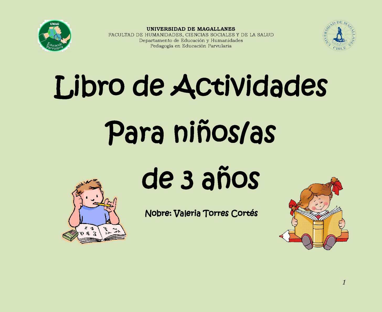 Libro De Actividades Para Niños/as De 3 Años