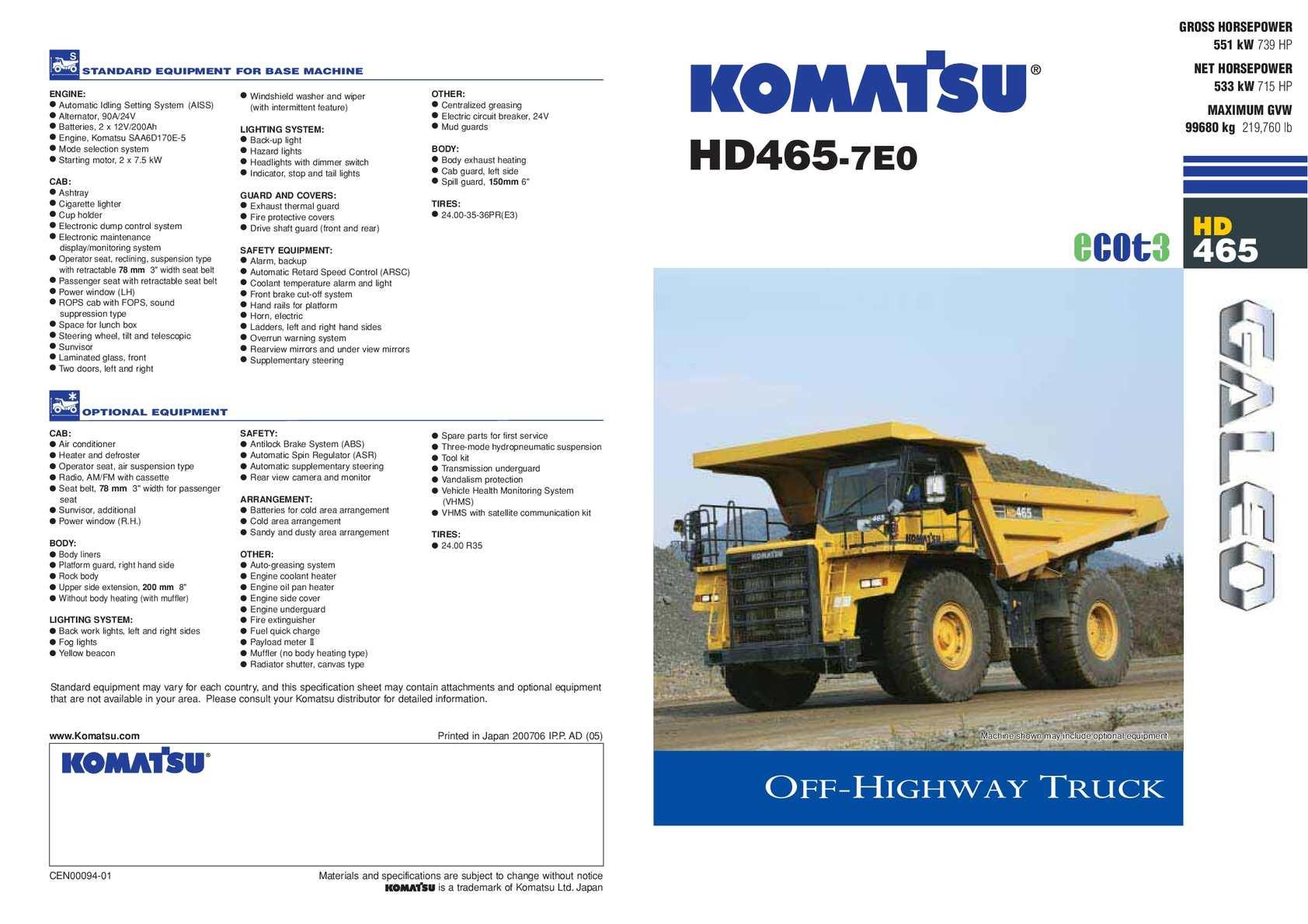 Calaméo - HD465 - Rigid Dump Truck