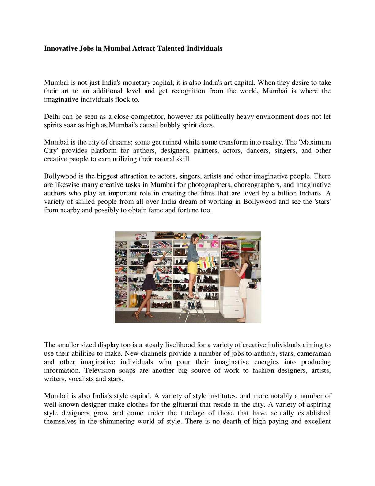Calameo Fashion Jobs