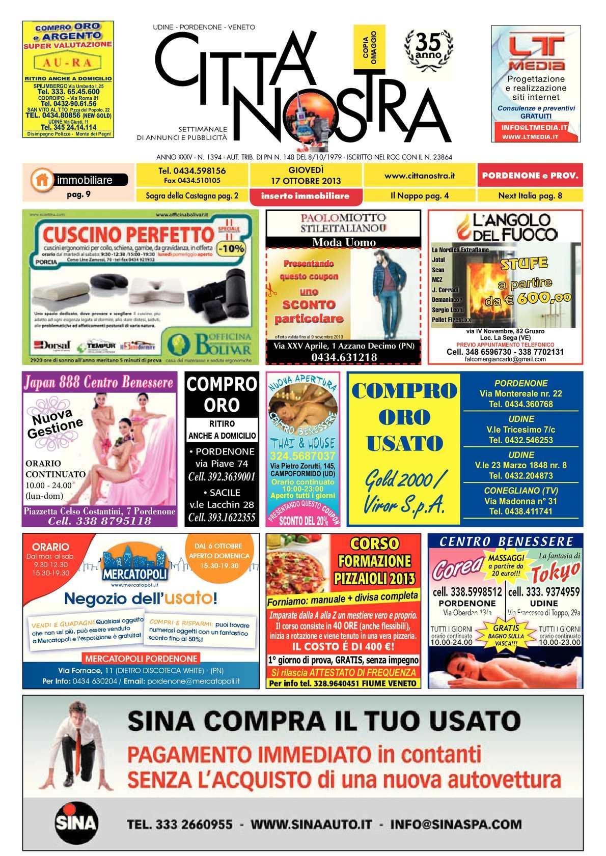 Calaméo - Città Nostra Pordenone del 17.10.2013 n. 1394 23fa879383a