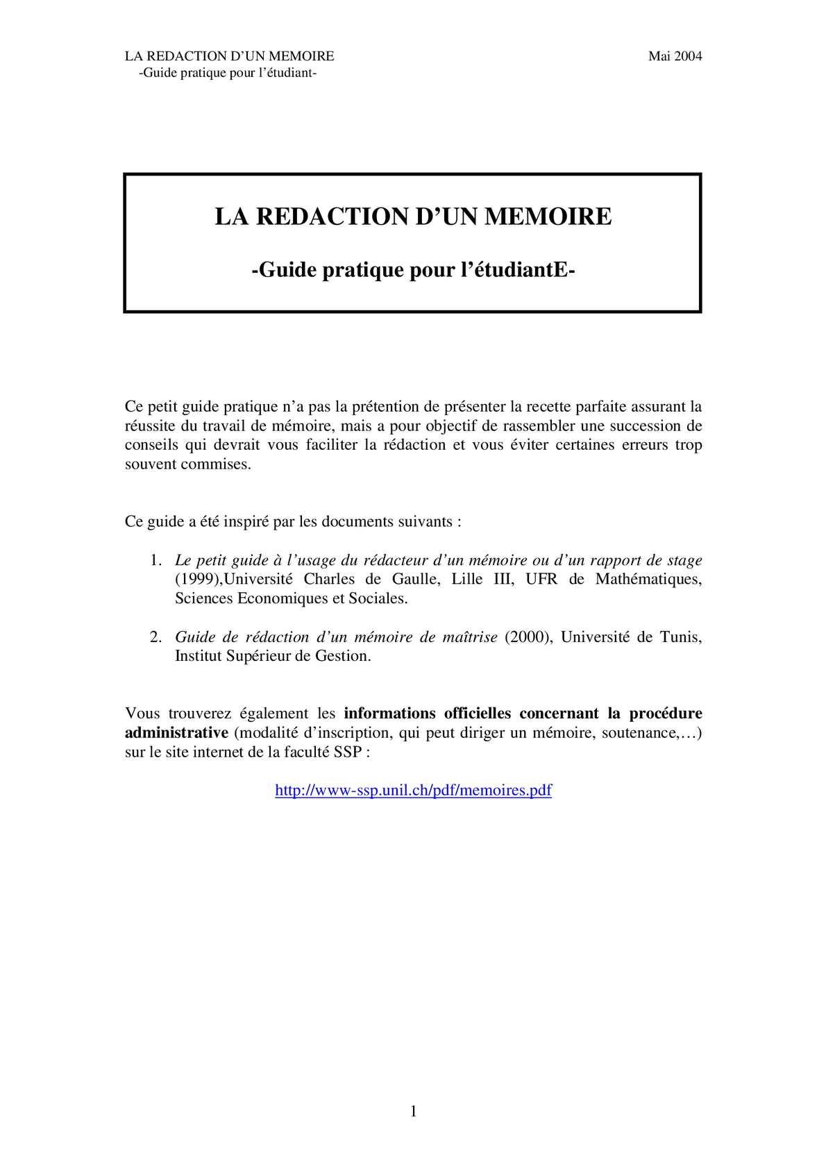 Calaméo Rédaction D Un Mémoire