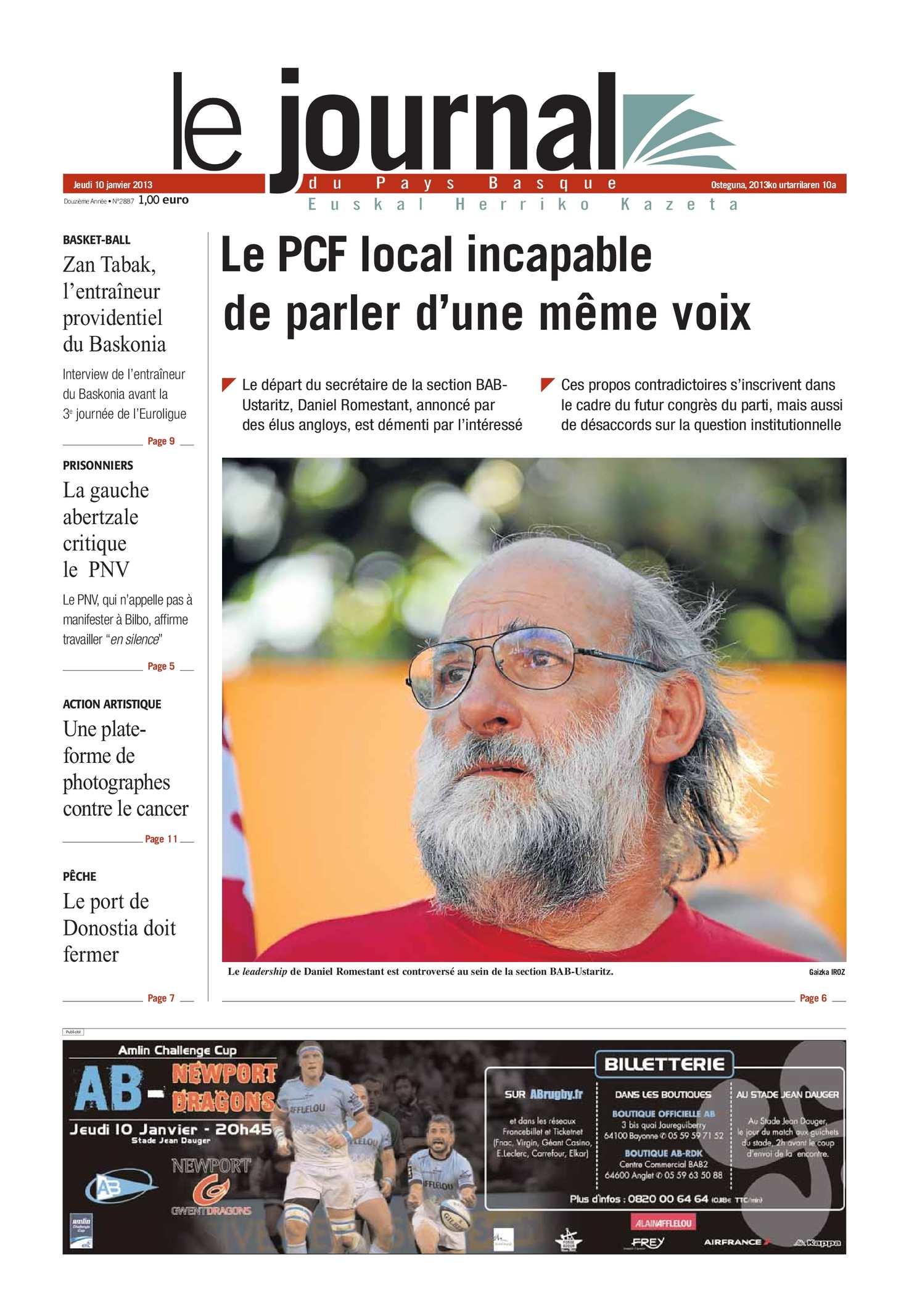 Calaméo - Le Journal du Pays Basque 20130110
