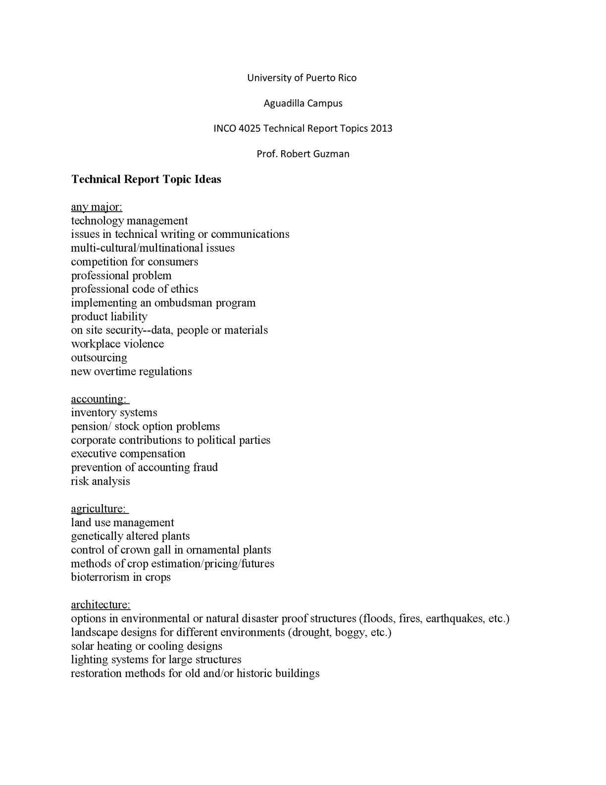 Calaméo - INCO 4025 Technical Report Topics 2013