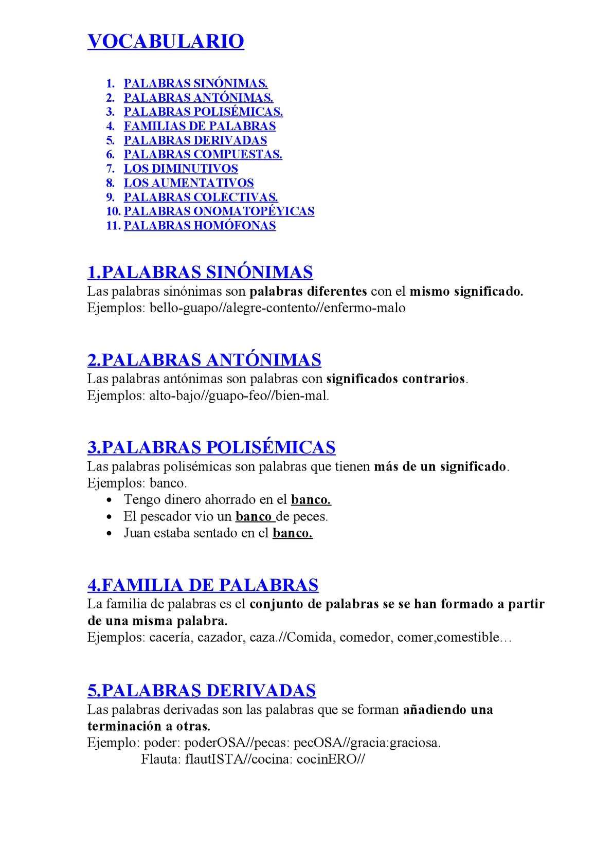 Calaméo Vocabulario 2º Ciclo