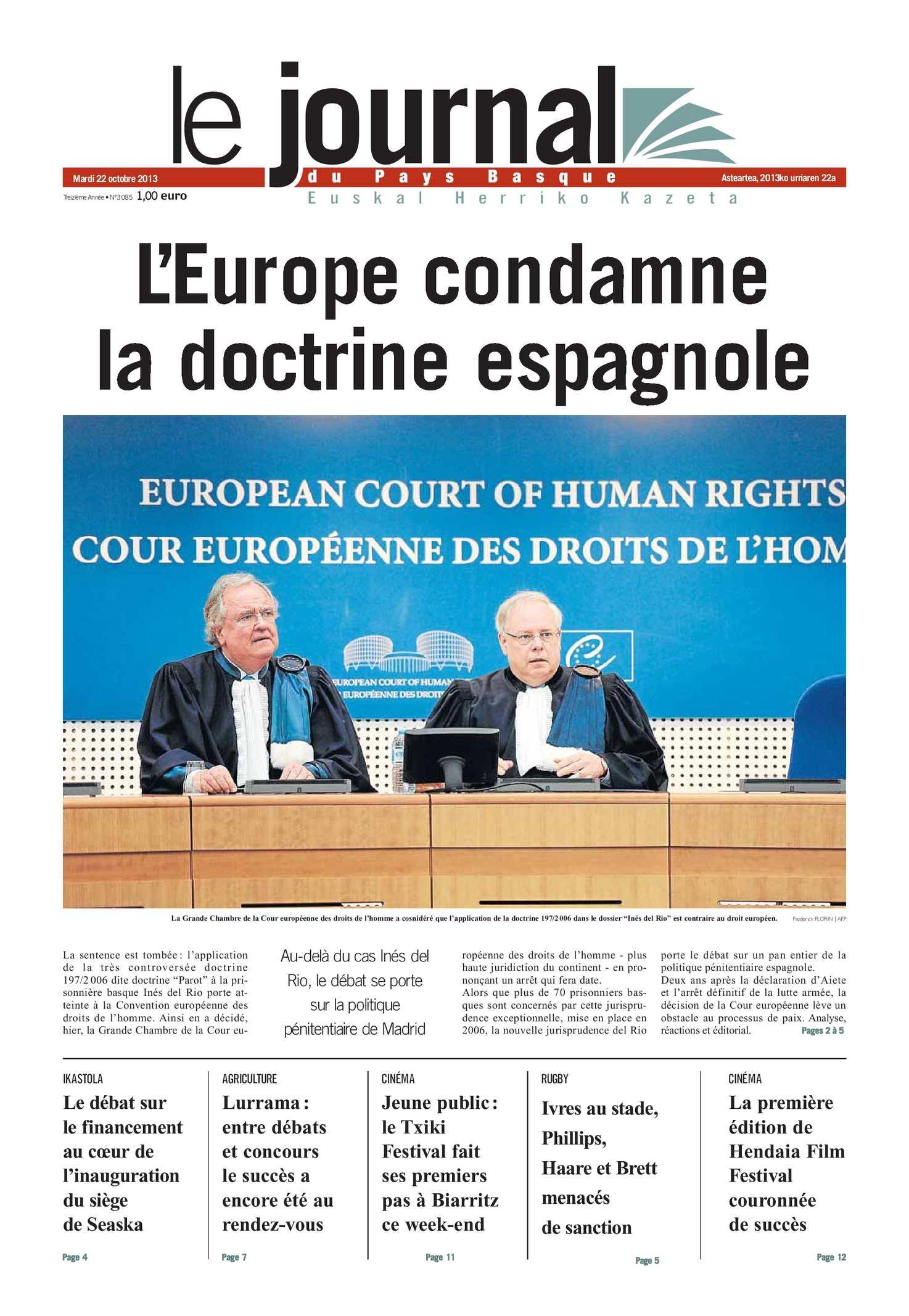 Calaméo - Le Journal du Pays Basque 20131022