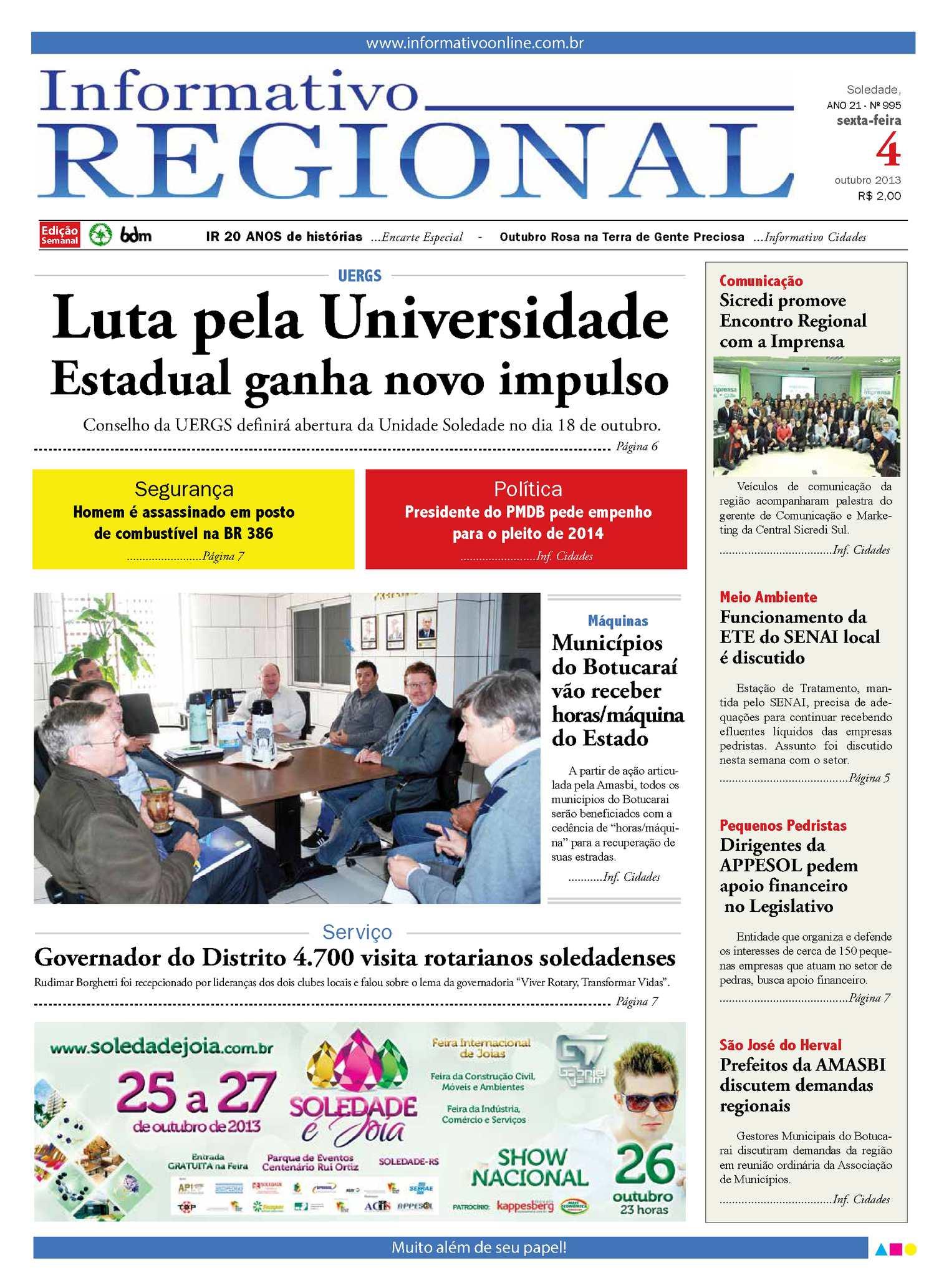 Calaméo - Informativo Regional 995 9c6b14a332