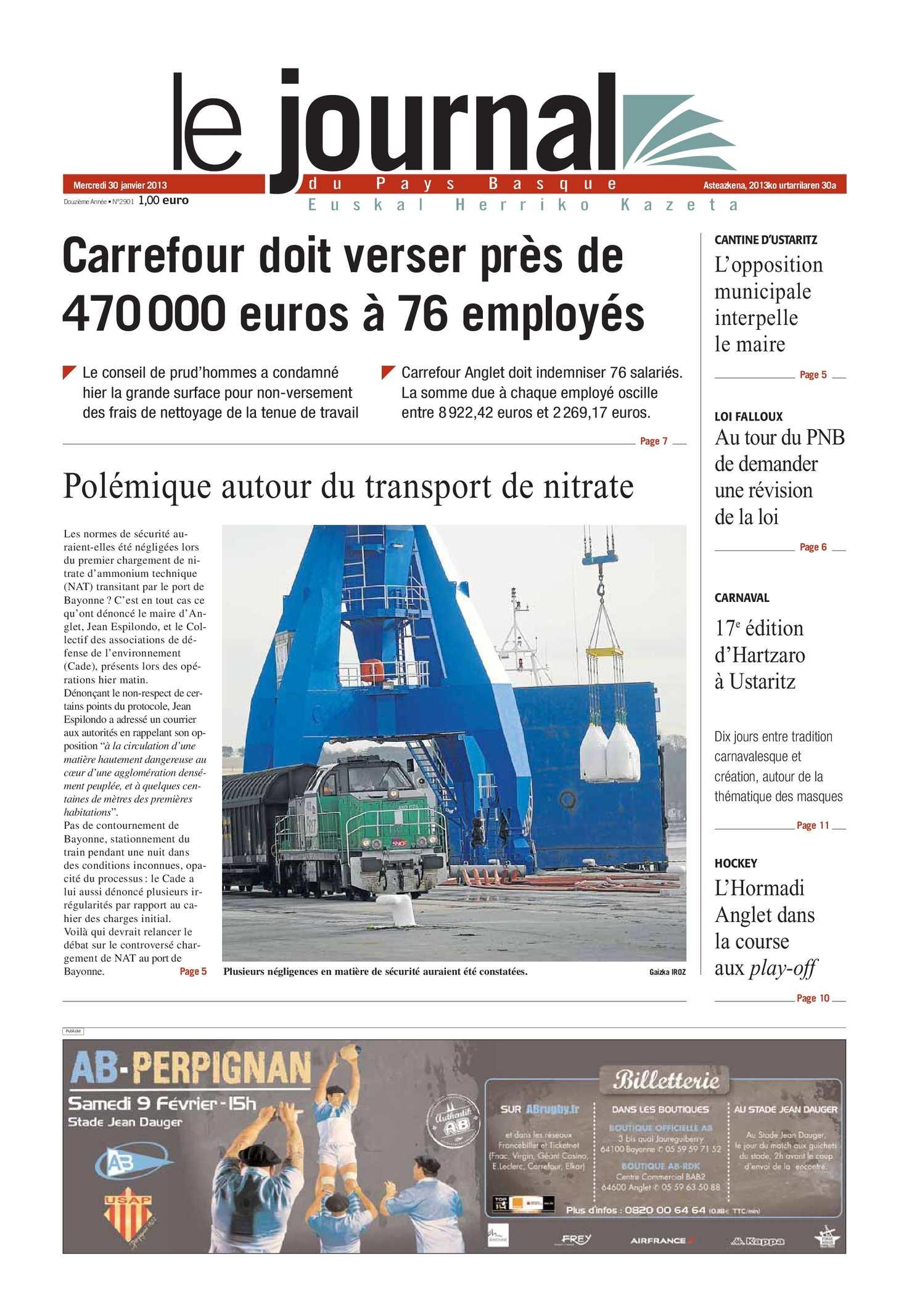 Calaméo Le Journal Du Pays Basque 20130130