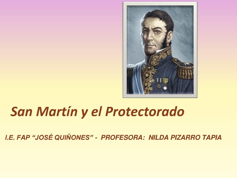 Elite San Jose >> Calaméo - SAN MARTÍN Y EL PROTECTORADO