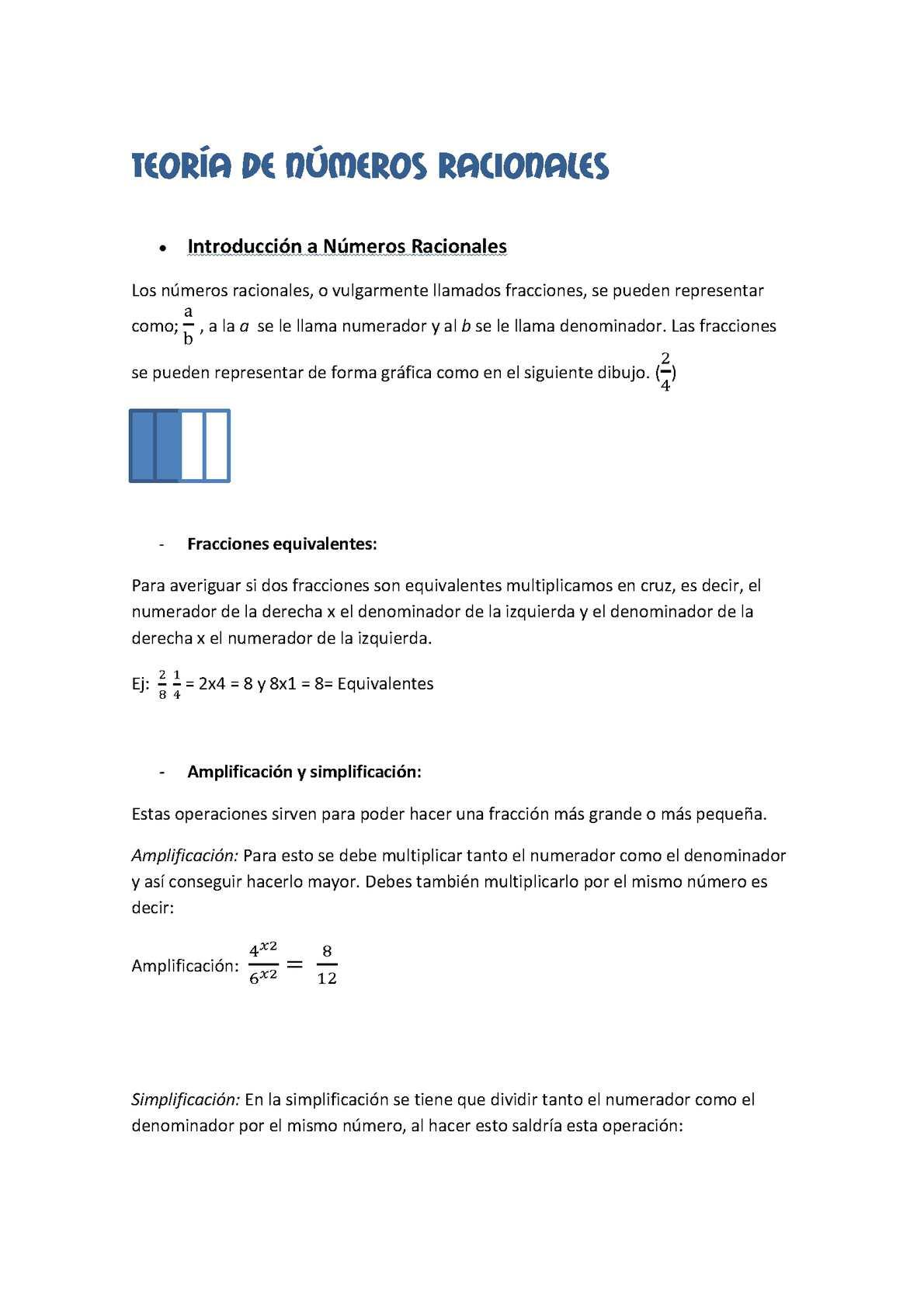 Calaméo Teoría Números Racionales