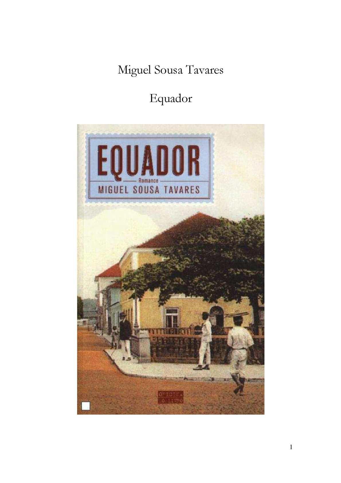 Calaméo - Miguel Sousa Tavares - Equador 23a6e684ba