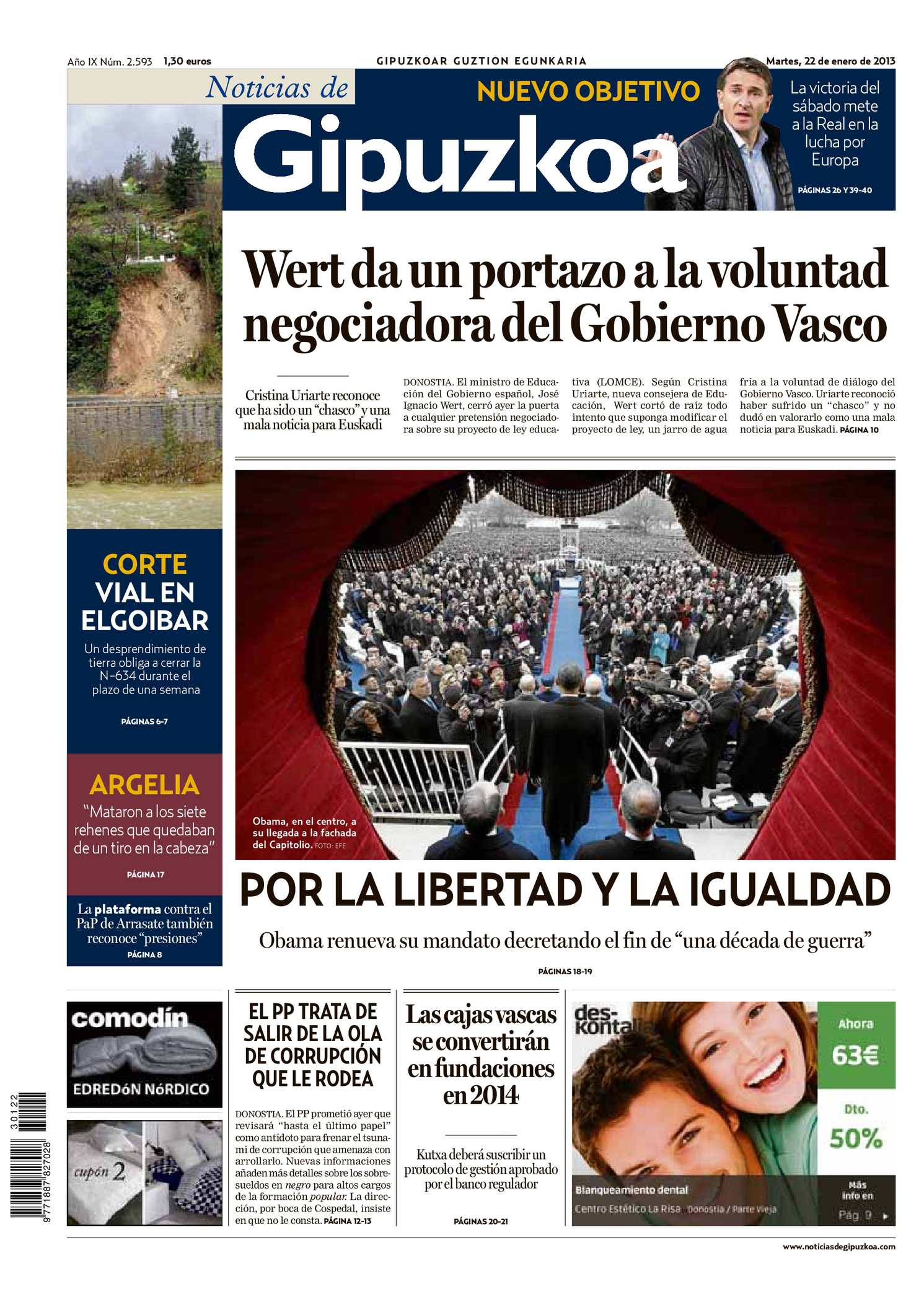 newest 5b096 b7ea2 Calaméo - Noticias de Gipuzkoa 20130122