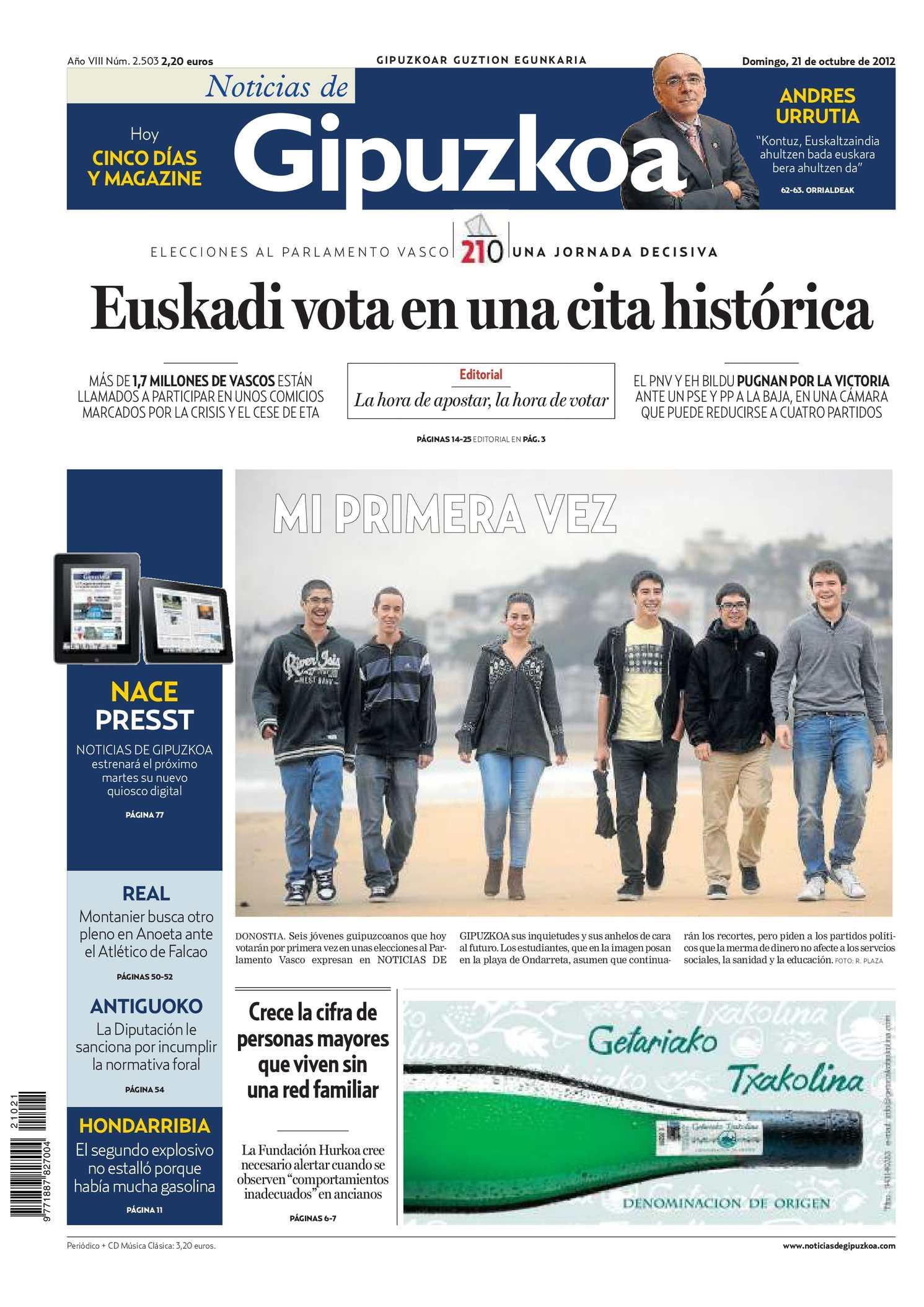 Calaméo Noticias de Gipuzkoa 20121021