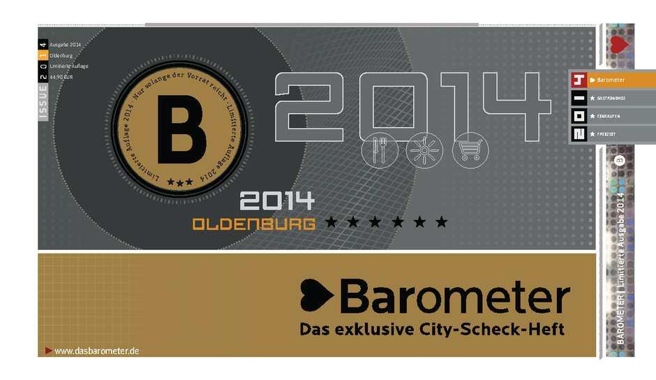 Calaméo BAROMETER Ausgabe Oldenburg 2014