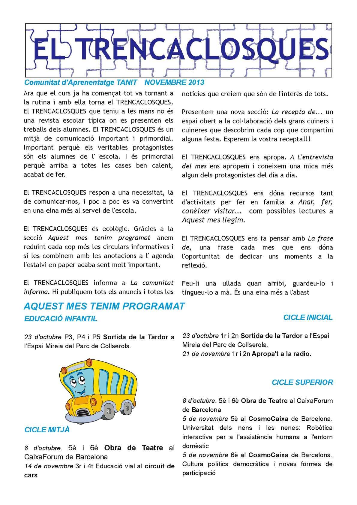Calaméo 201311 Trencaclosques
