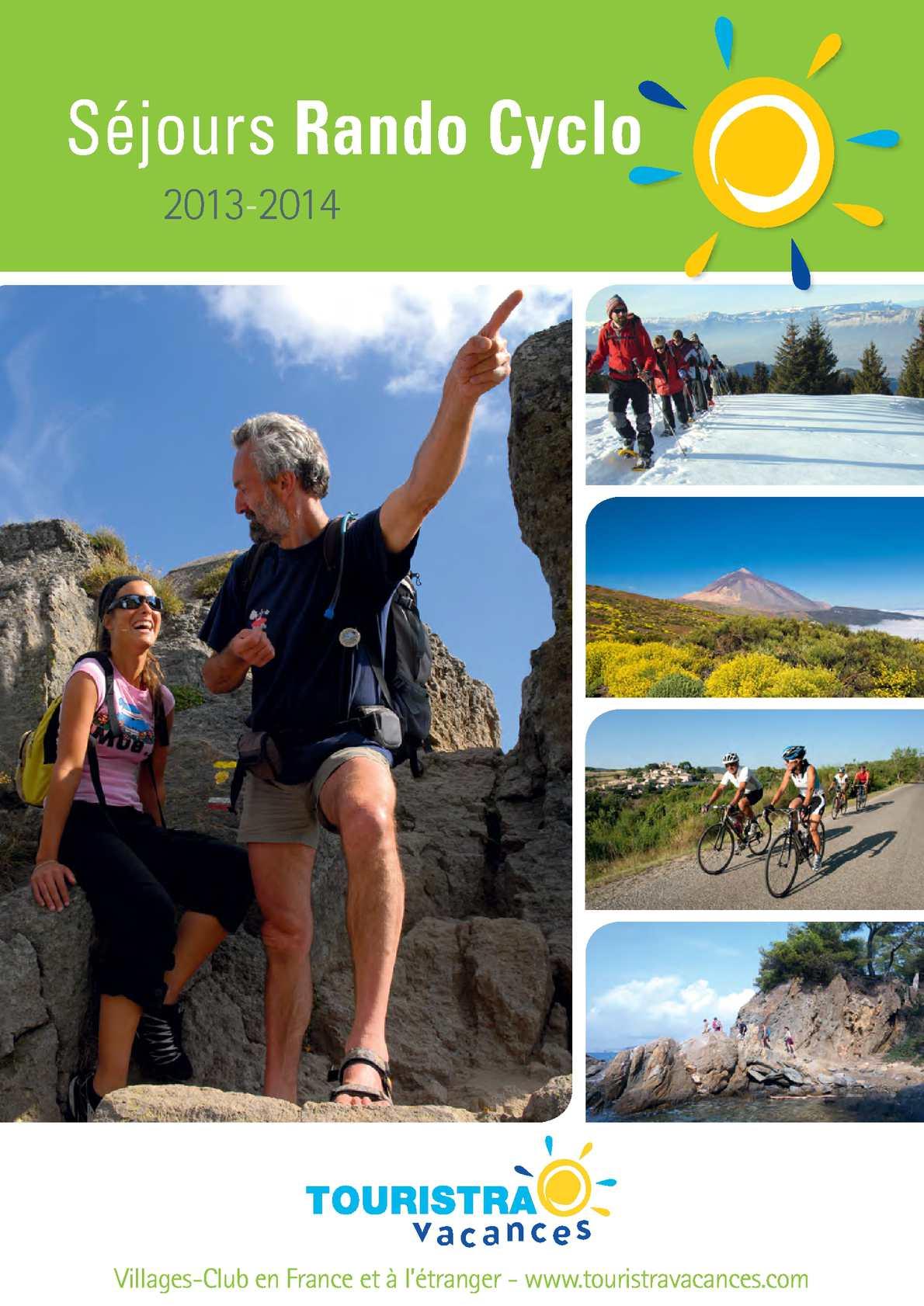 Calaméo Touristra Vacances Catalogue Séjours Randocyclo
