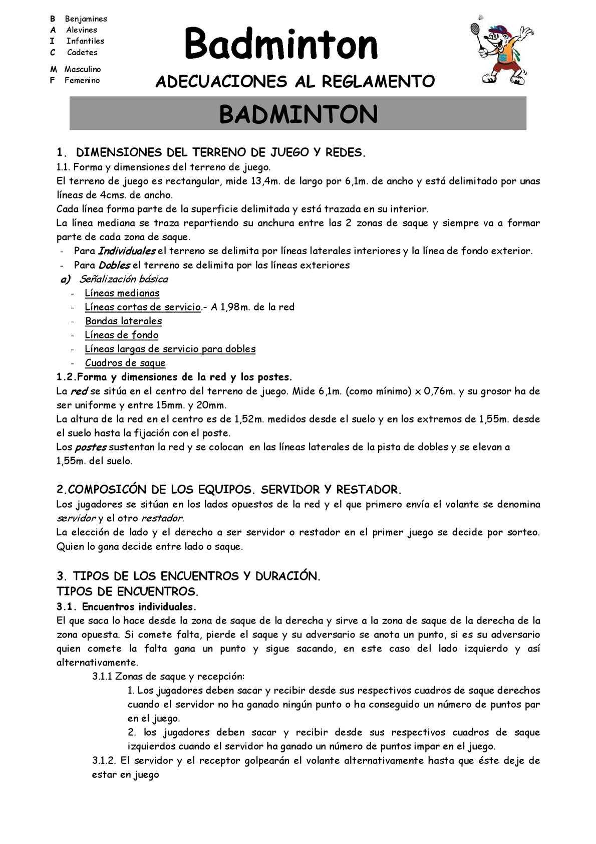 Calameo Las Reglas Del Badminton