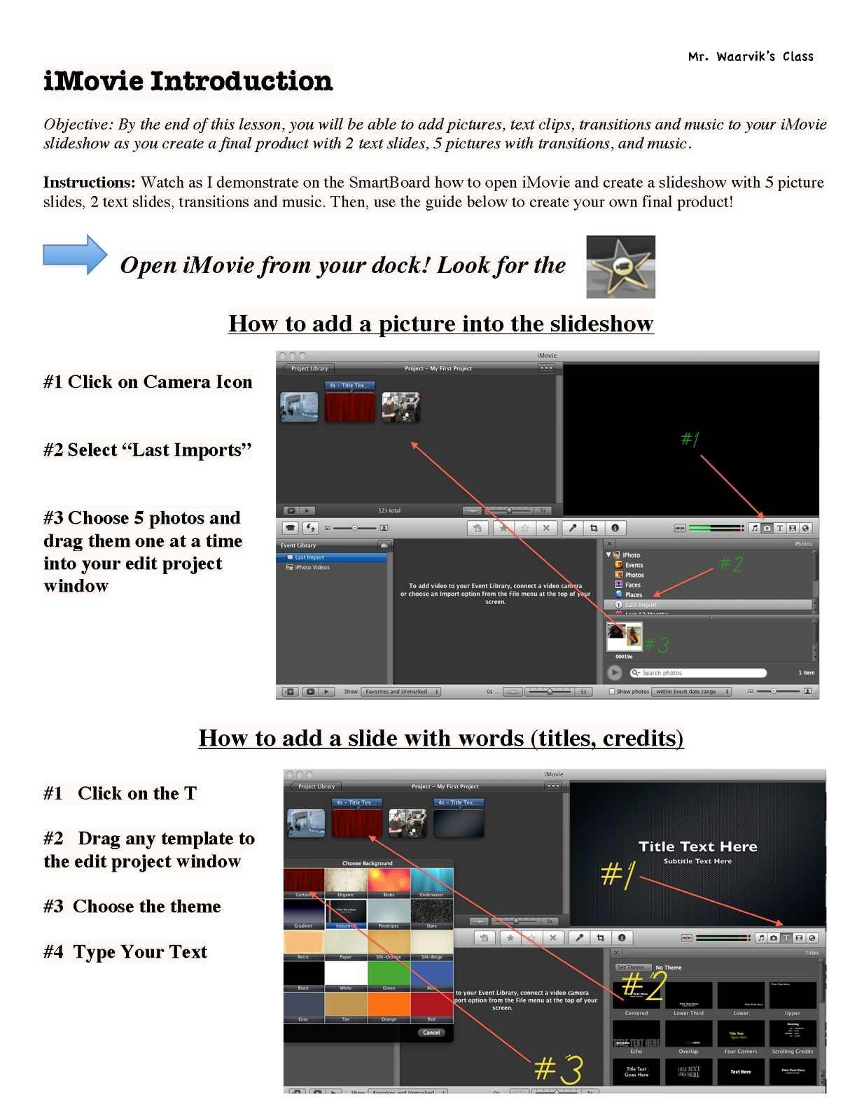 Calaméo - iMovie Instructional Guide