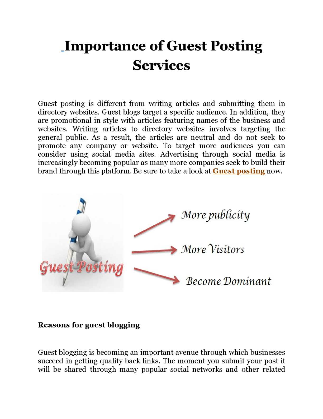 Calaméo - Importance of Guest Posting Services