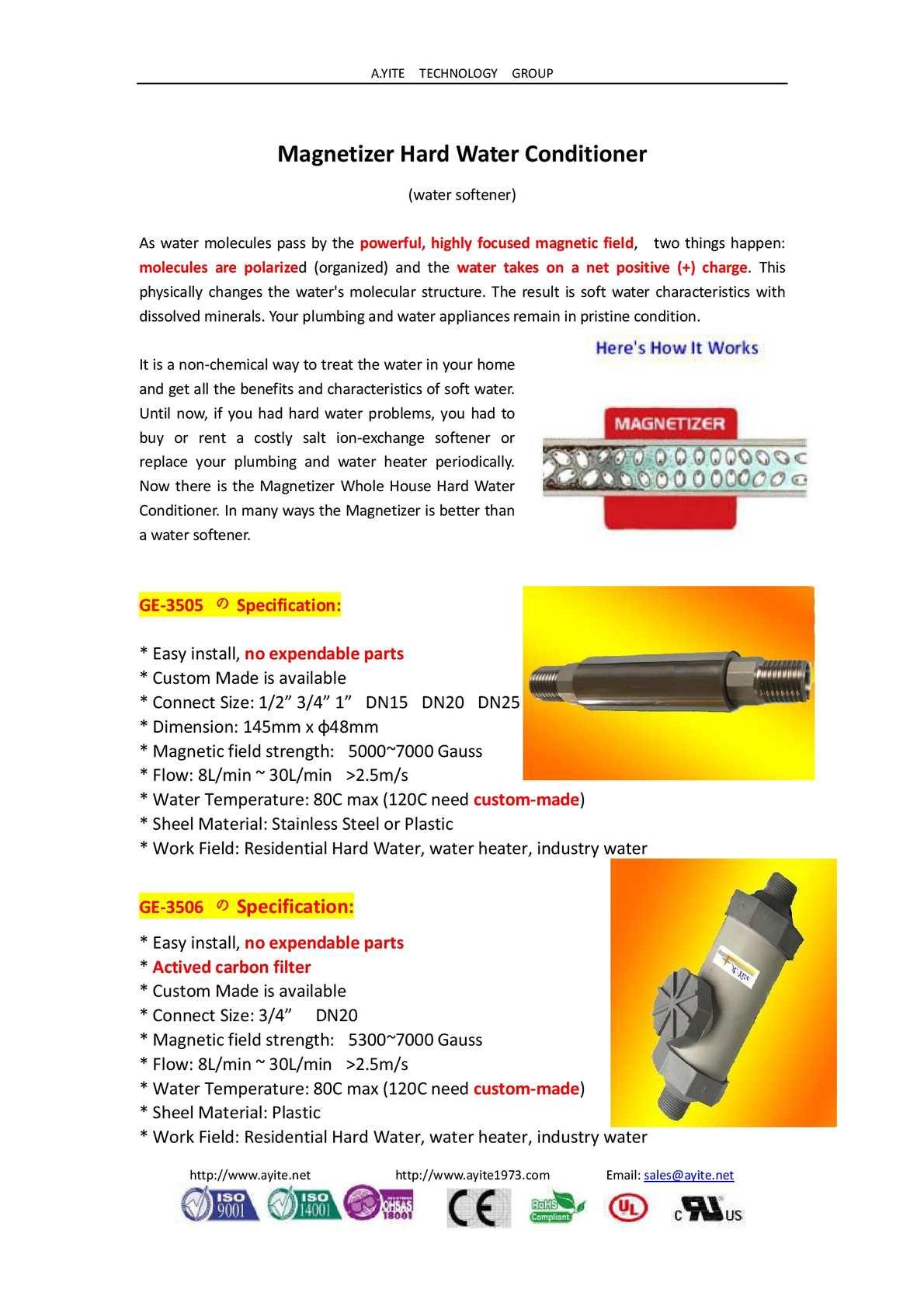 Calaméo - Magnetizer Hard Water Conditioner Softener