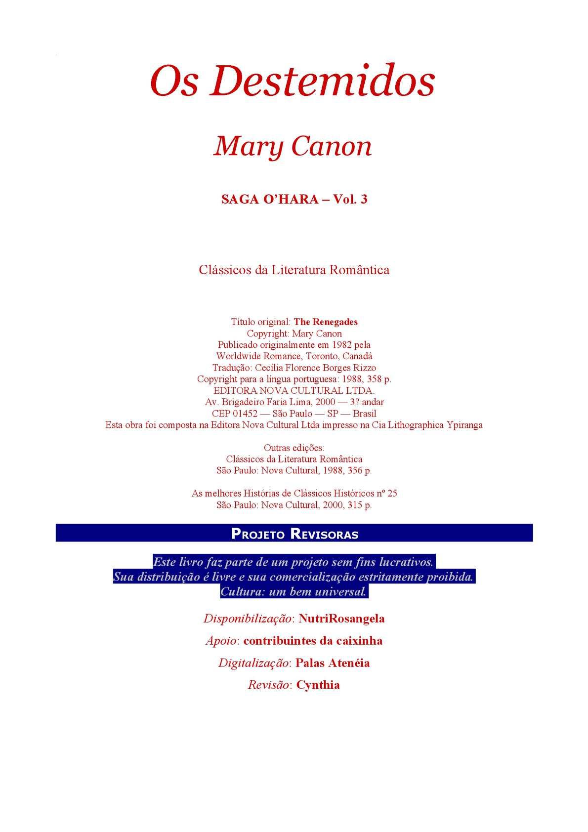 Calaméo - Os destemidos - Mary Canon e4696b7c4b818