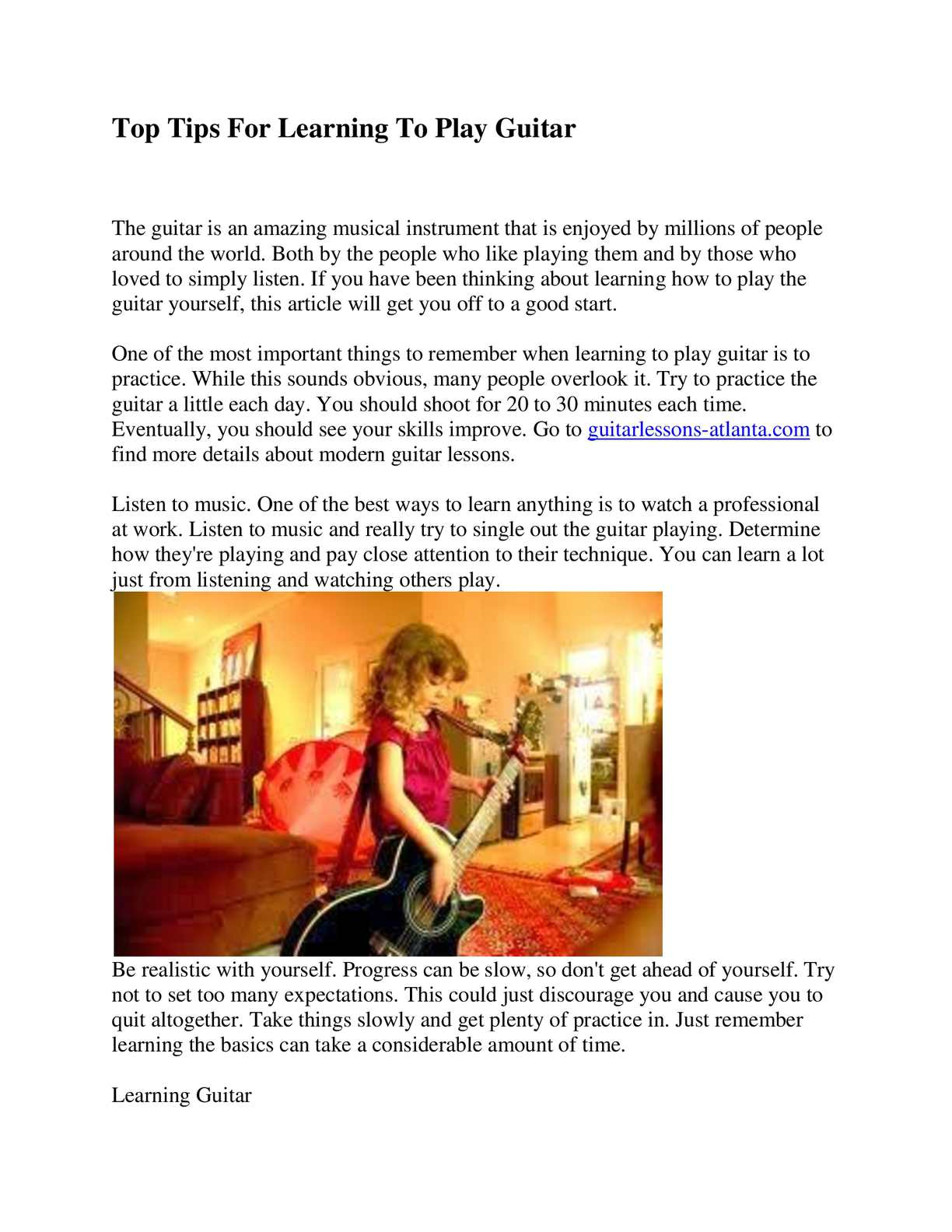 Calameo Guitar Lessons