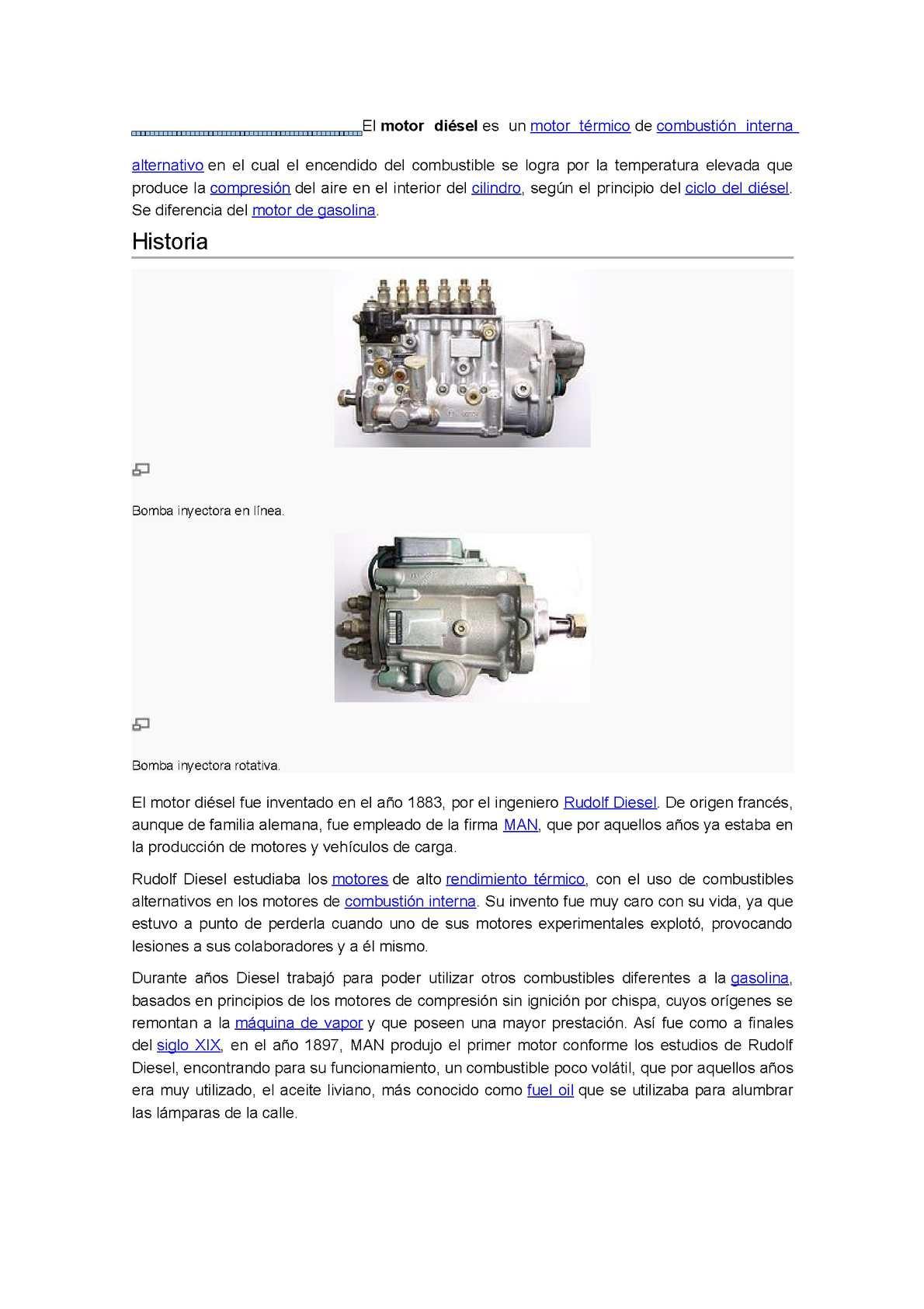 Historia del motor a gasolina