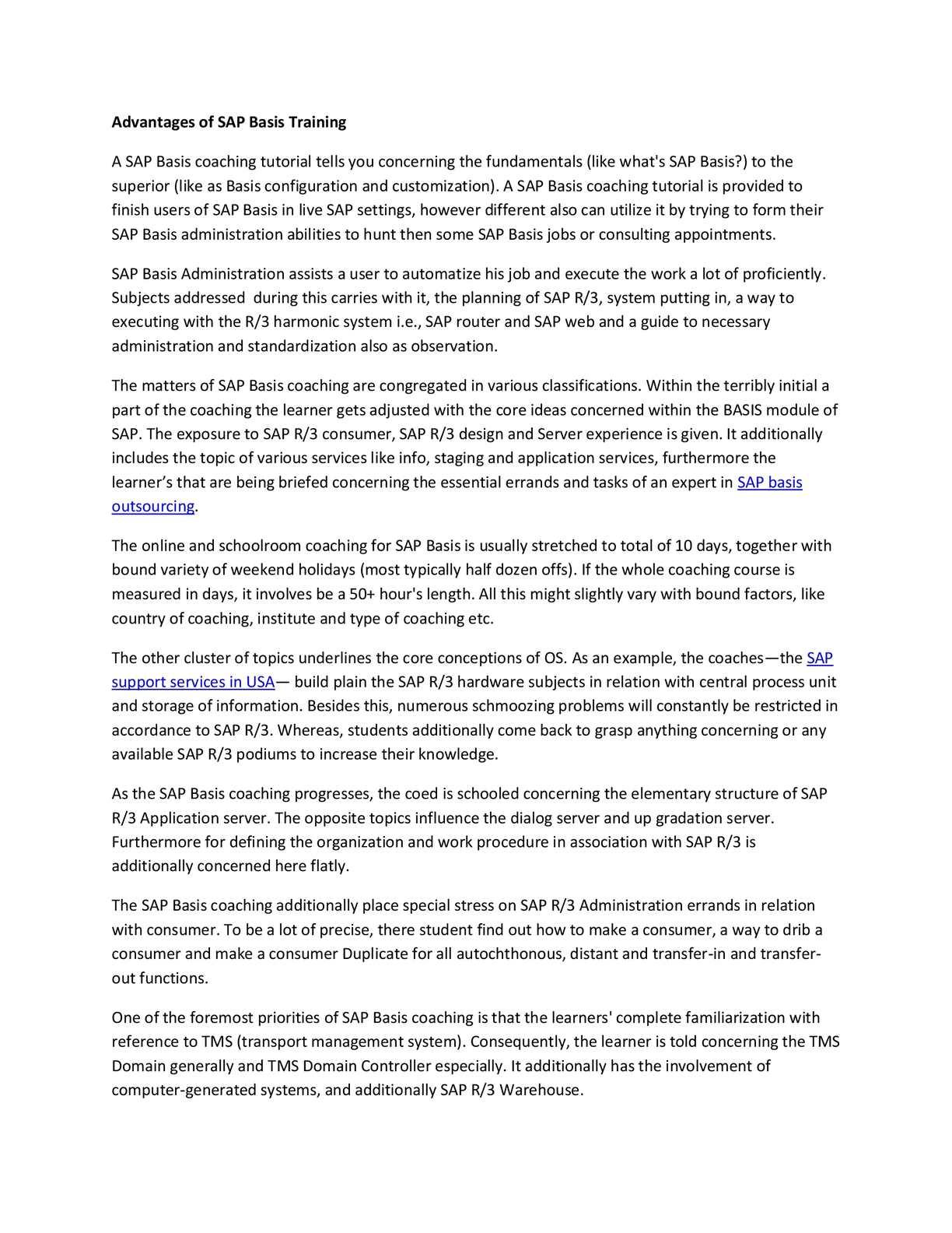 Calaméo - Advantages of SAP Basis Training