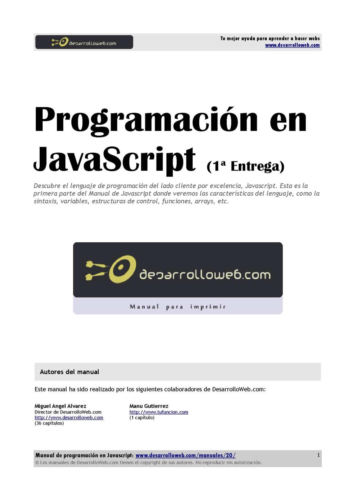 Calaméo Manual Programacion Javascript Parte1
