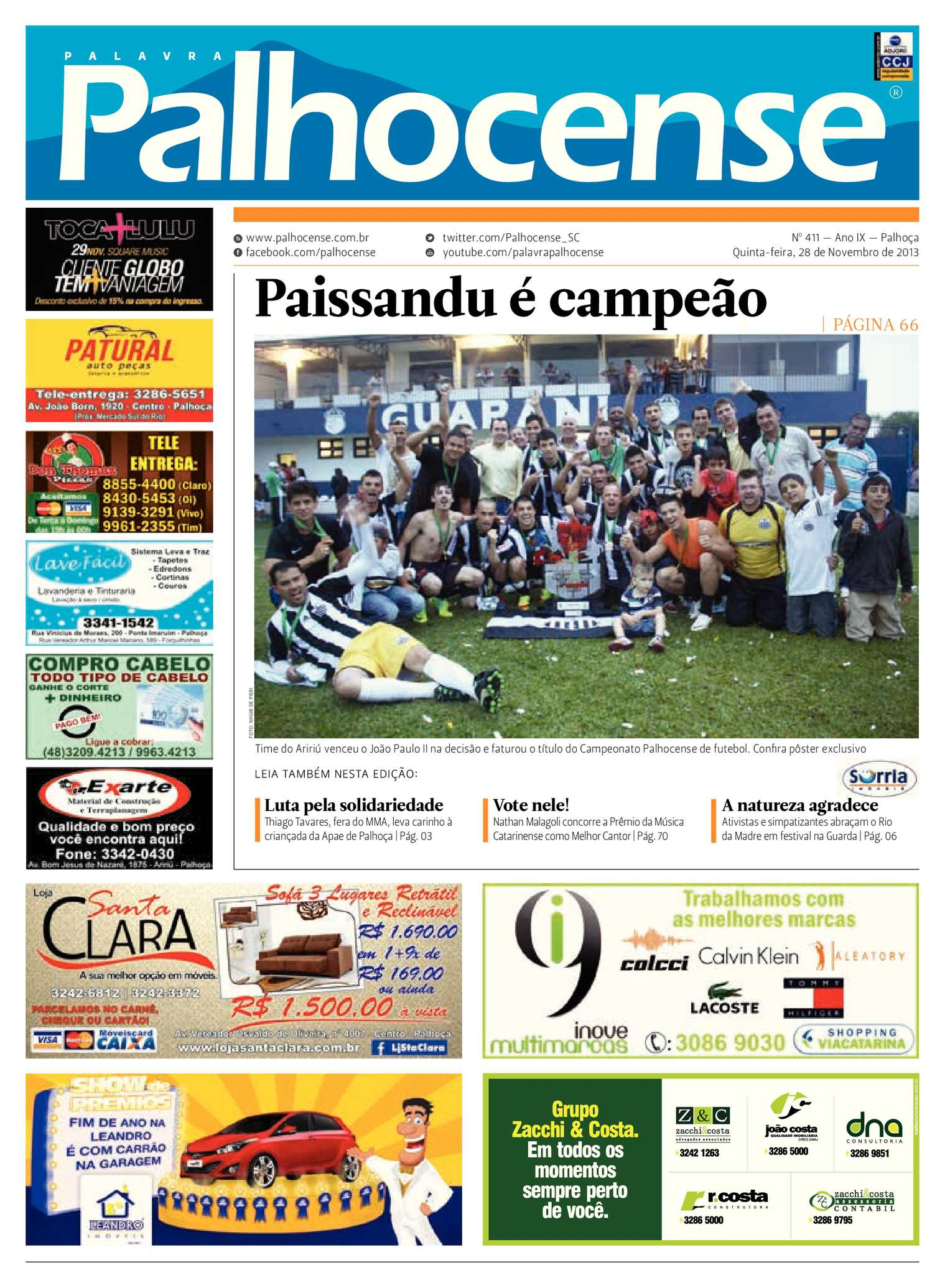 Calaméo - Jornal Palavra Palhocense - Edição 411 e1f64be82aa19