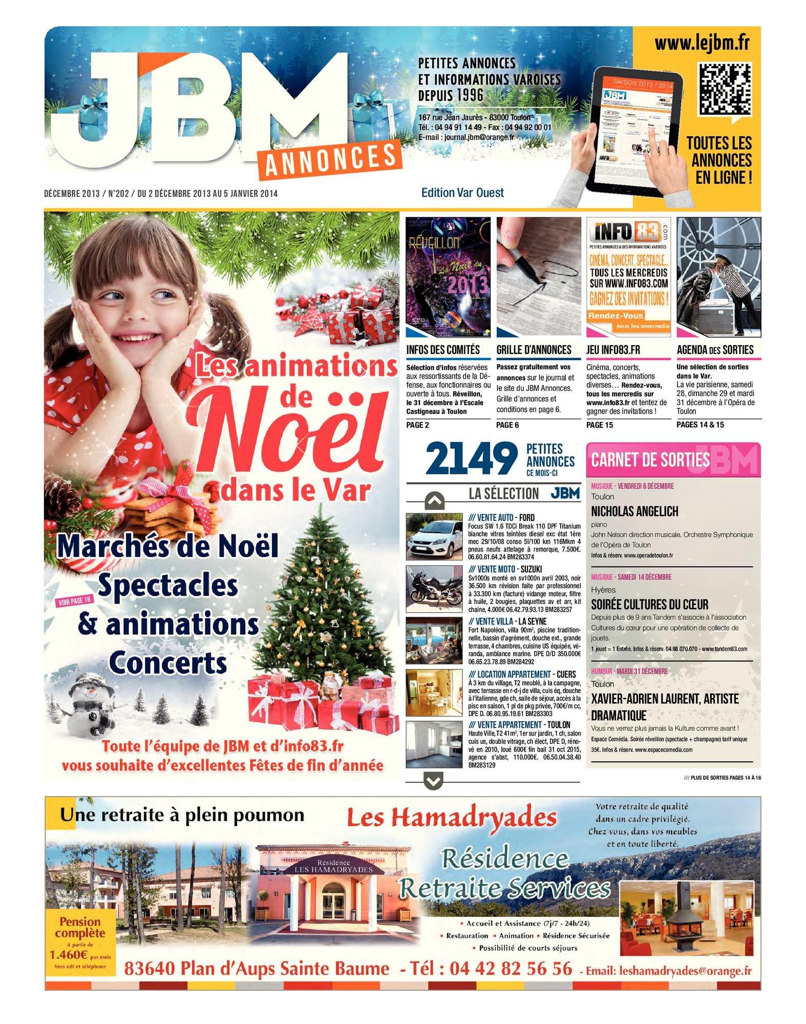 Calaméo - Journal JBM Annonces n°202 Décembre 2013 5dd231b42b4