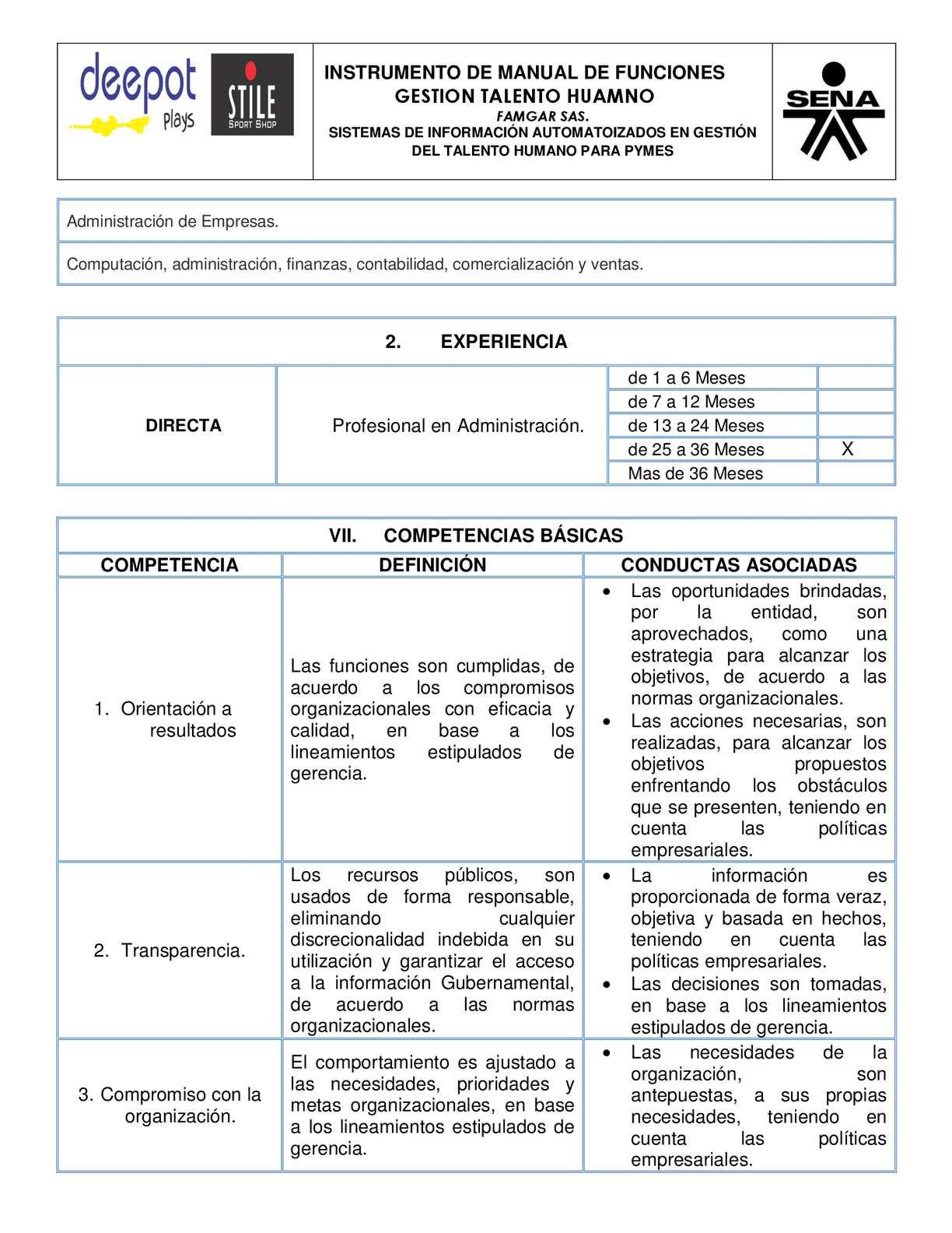 Manual específico de funciones y competencias laborales gerencia.
