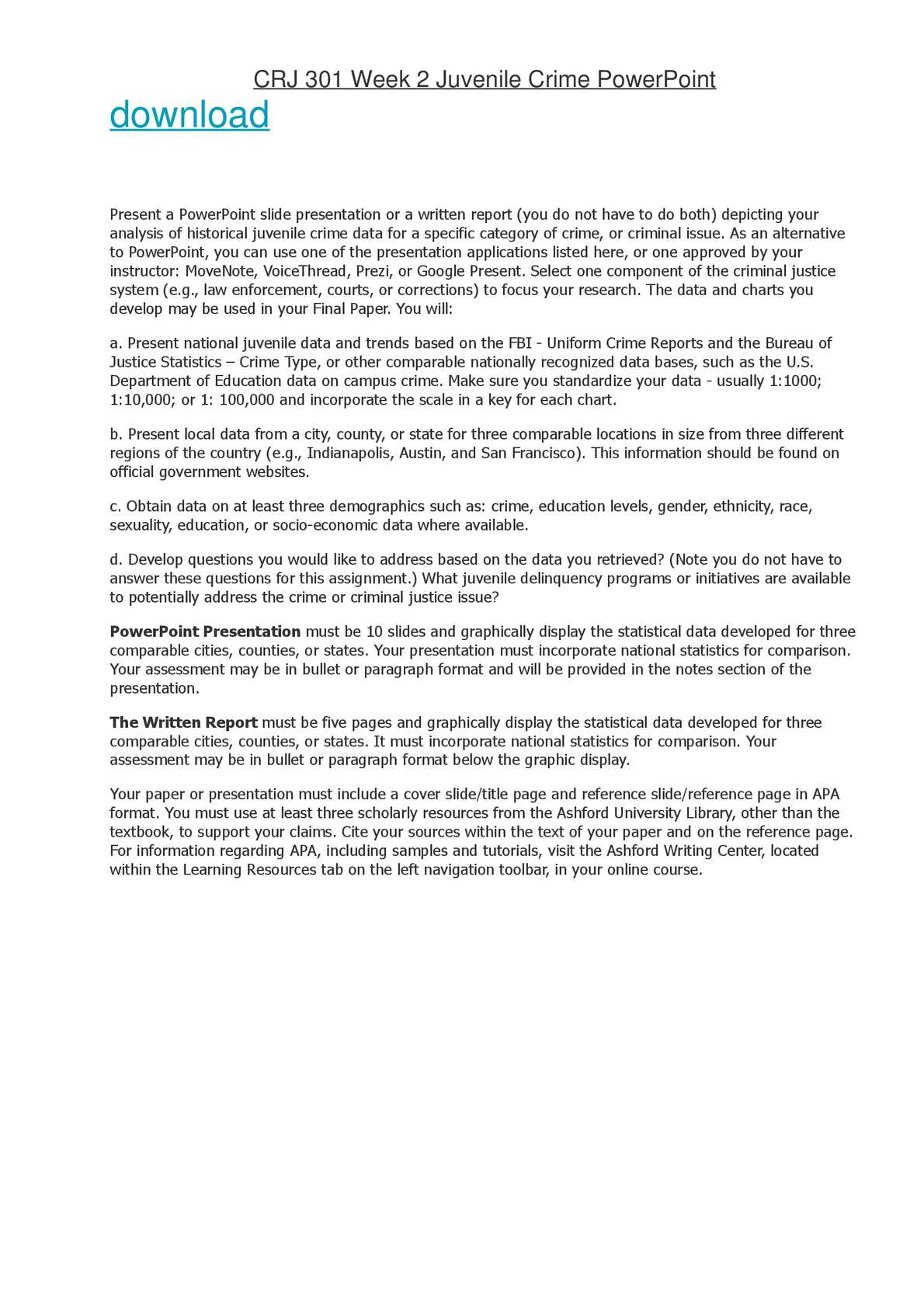 Calaméo - CRJ 301 Week 2 Juvenile Crime PowerPoint