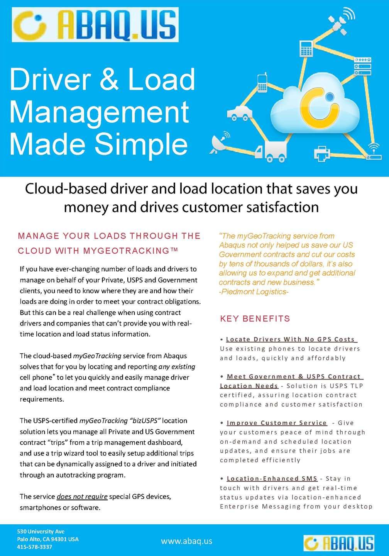 Calaméo - USPS Compliant Fleet Management – Load Management Made
