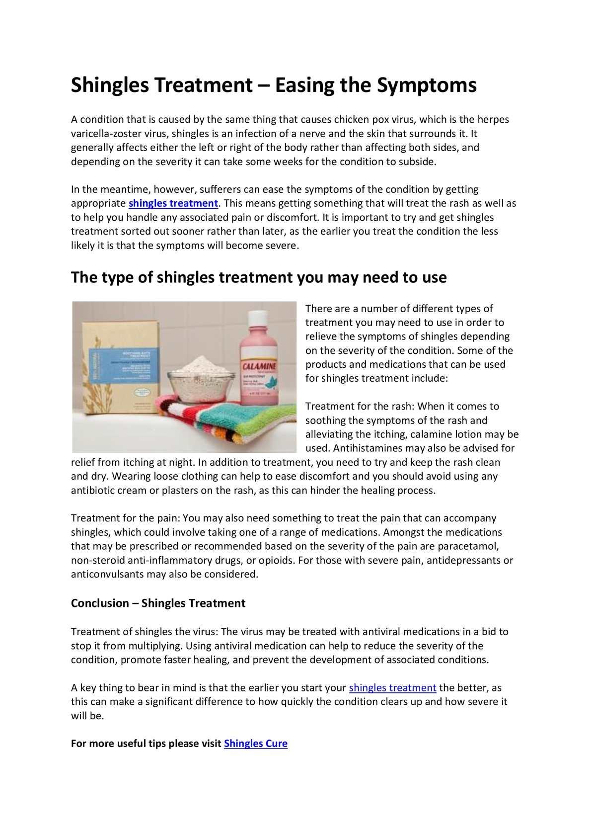 calaméo shingles treatment