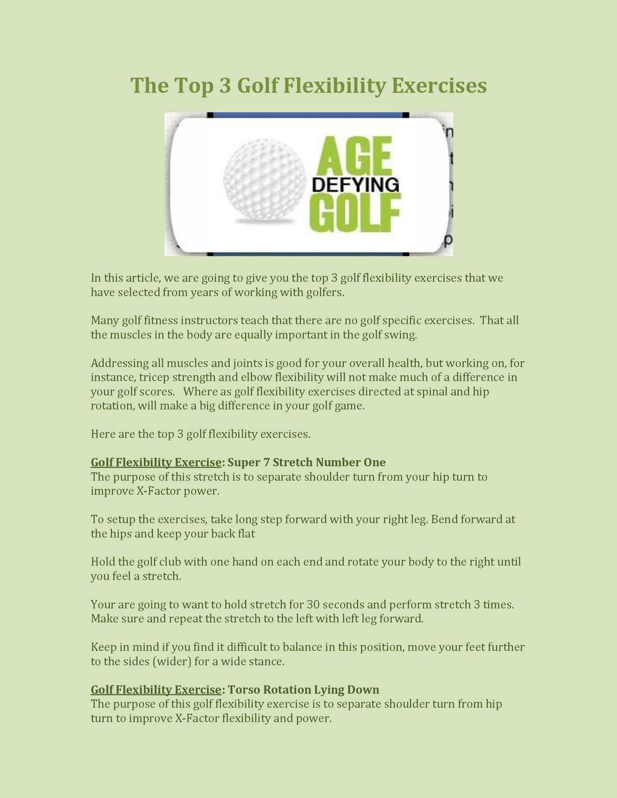 Calaméo - The Top 3 Golf Flexibility Exercises