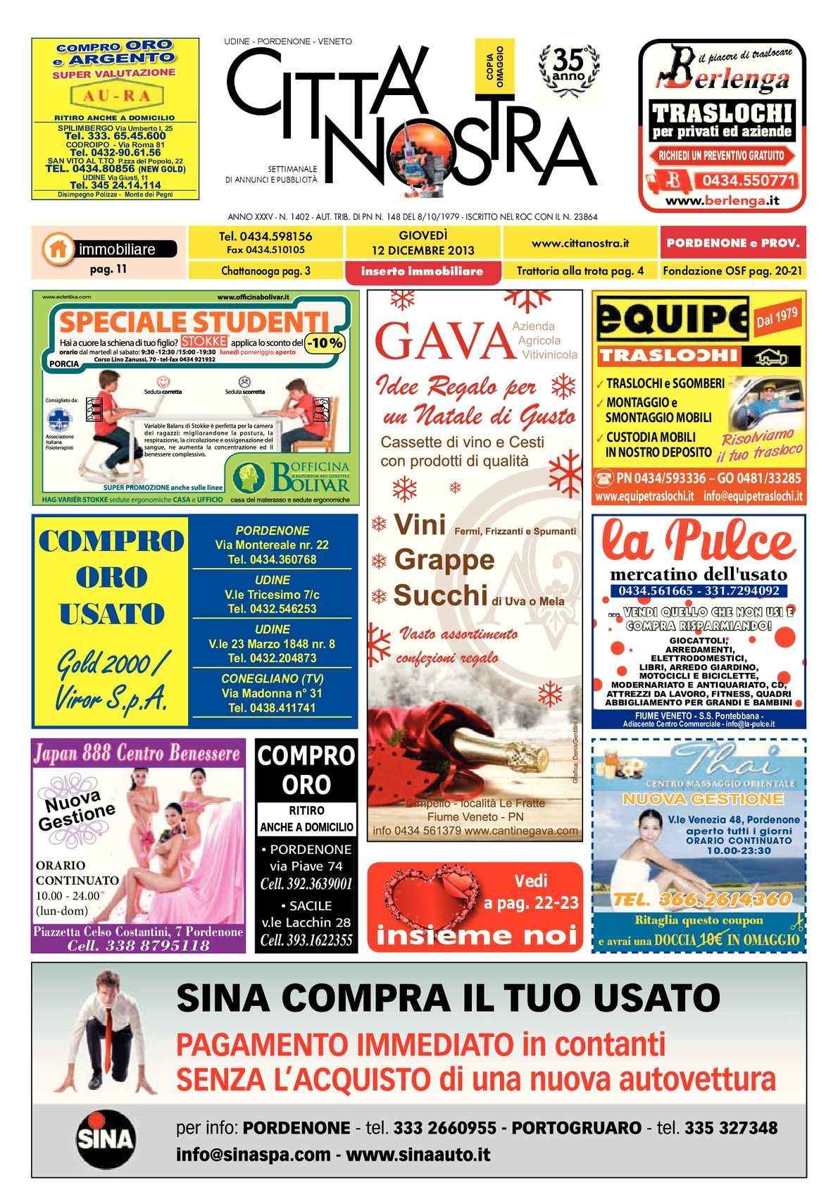 timeless design 4039c fef5d Calaméo - Città Nostra Pordenone del 12.12.2013 n. 1402