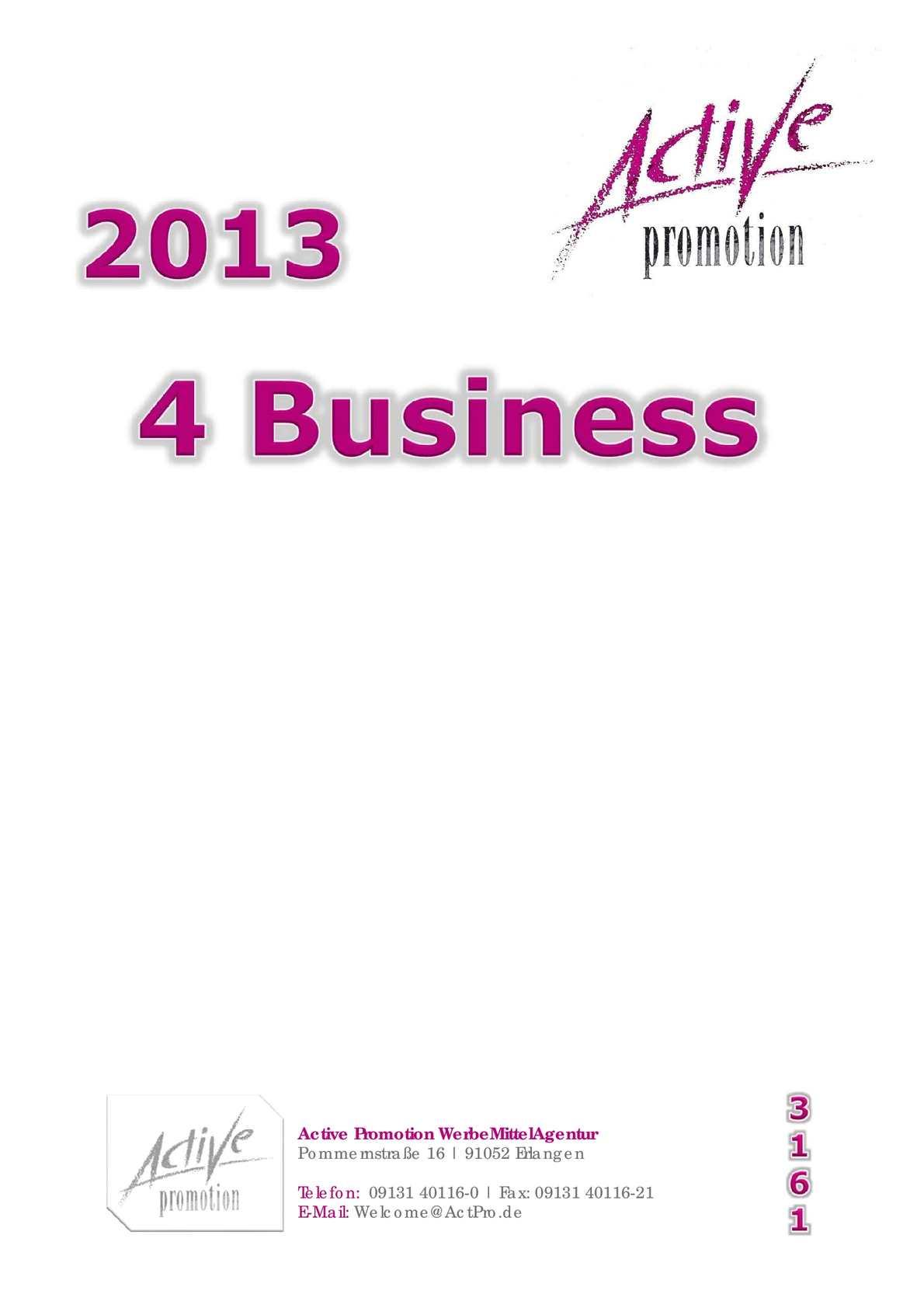 Calaméo Werbeartikel For Business Troika