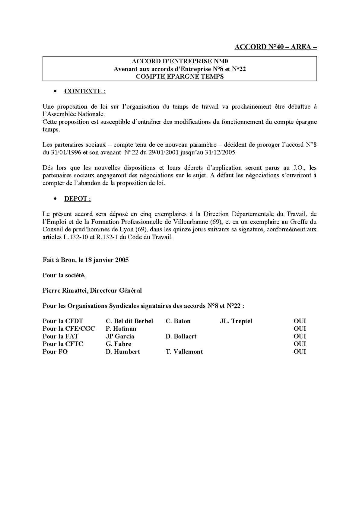 Calameo Accord N 40 Area Avenant Cet 2