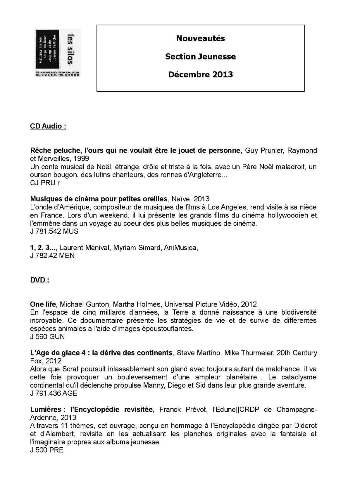 Calaméo Liste Des Nouveautés Section Jeunesse Fin D