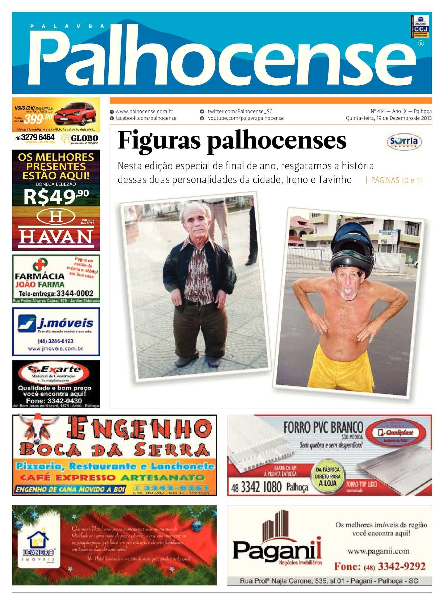 8012f2a817ca6 Calaméo - Jornal Palavra Palhocense - Edição 414