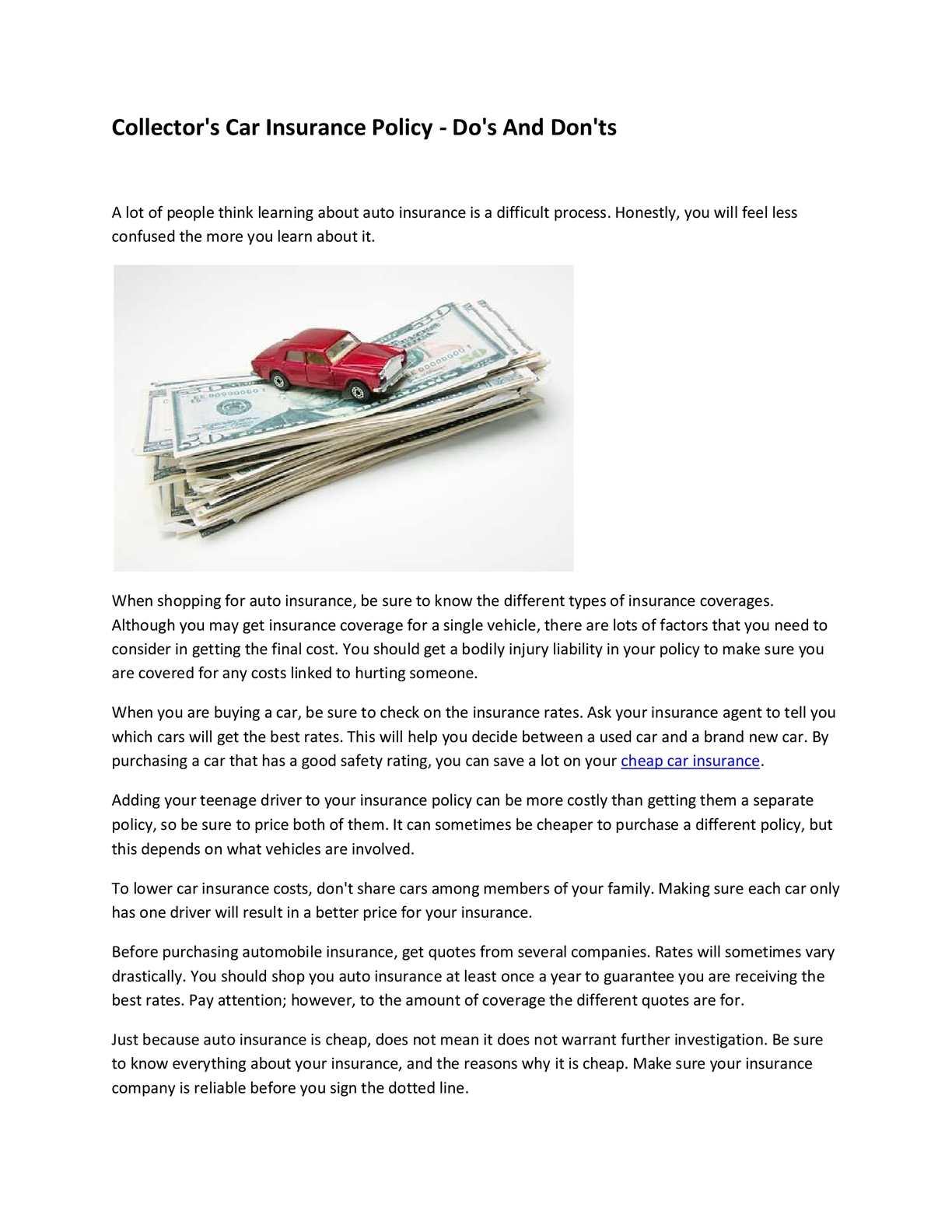 Calaméo Cheapest Car Insurance Quotes