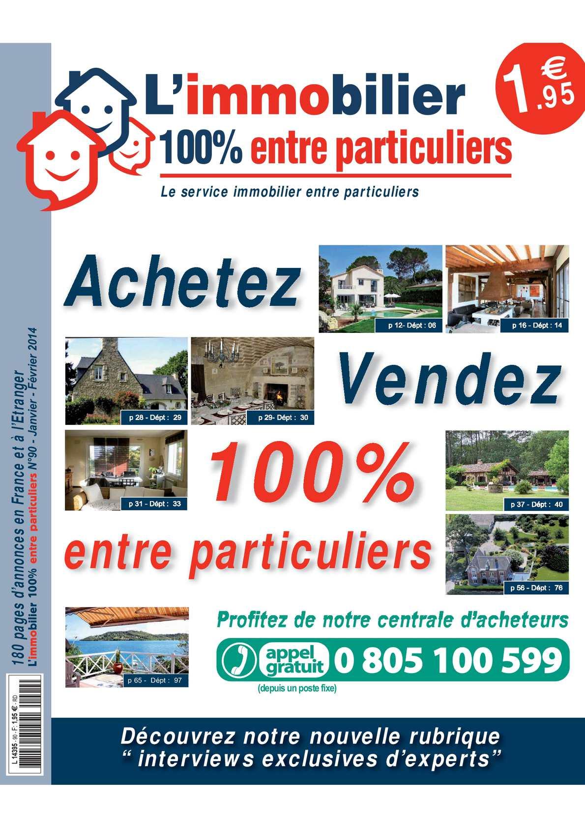 Calaméo - L immobilier 100% entre Particuliers – Appelimmo – N°90 –  Janvier Février 2014 5cfd3fa7be9d