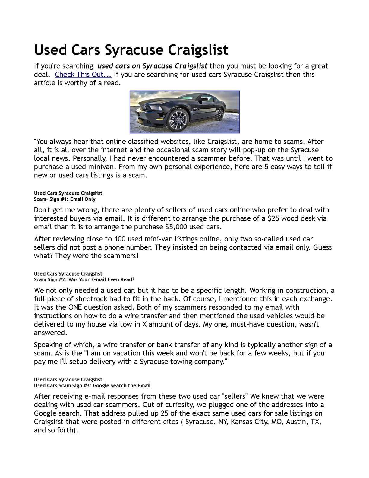 Calameo Used Cars Syracuse Craigslist