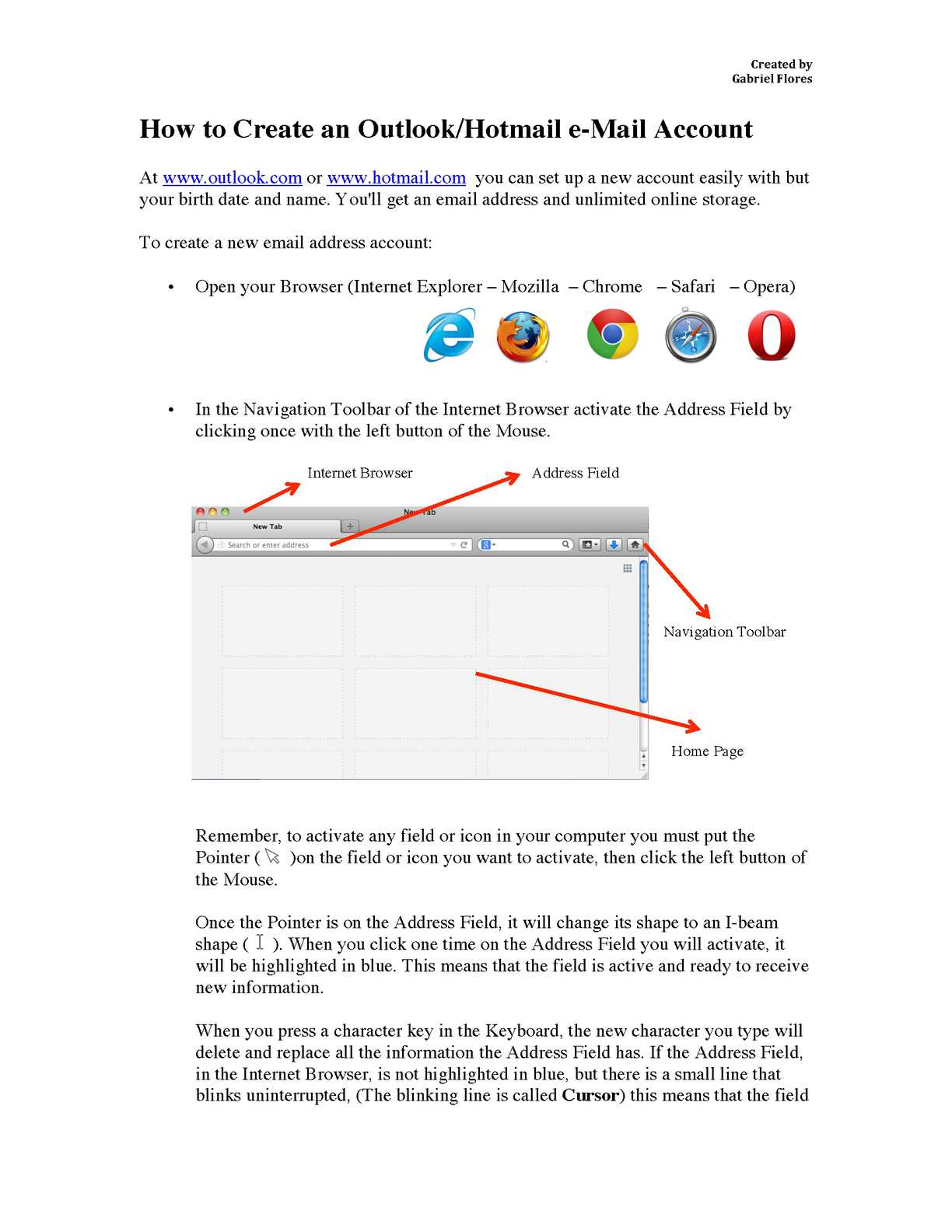 Calaméo - Create an Outlook/Hotmail e-Mail Account Step by Step