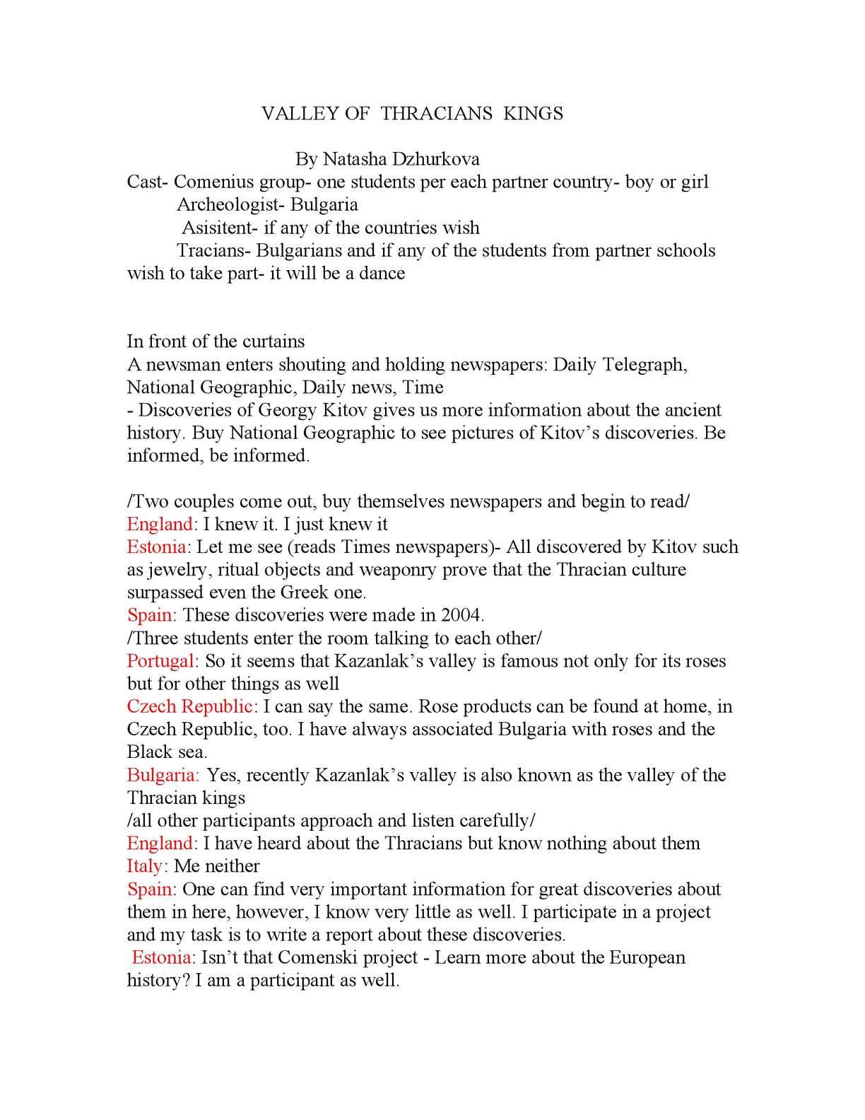 Calaméo - script for the Bulgarian local historical event