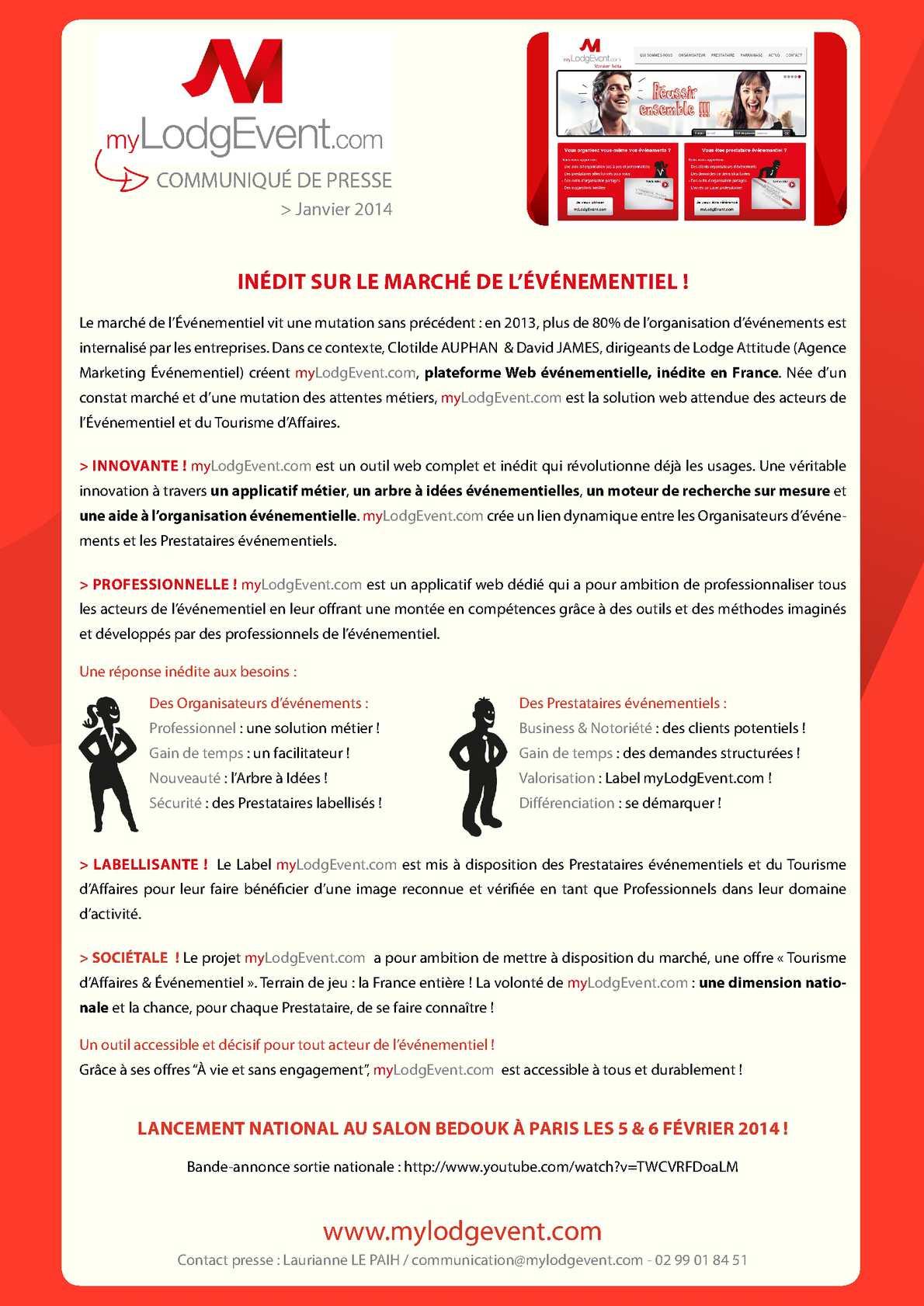 Dossier De Presse Mylodgevent Com Calameo Downloader