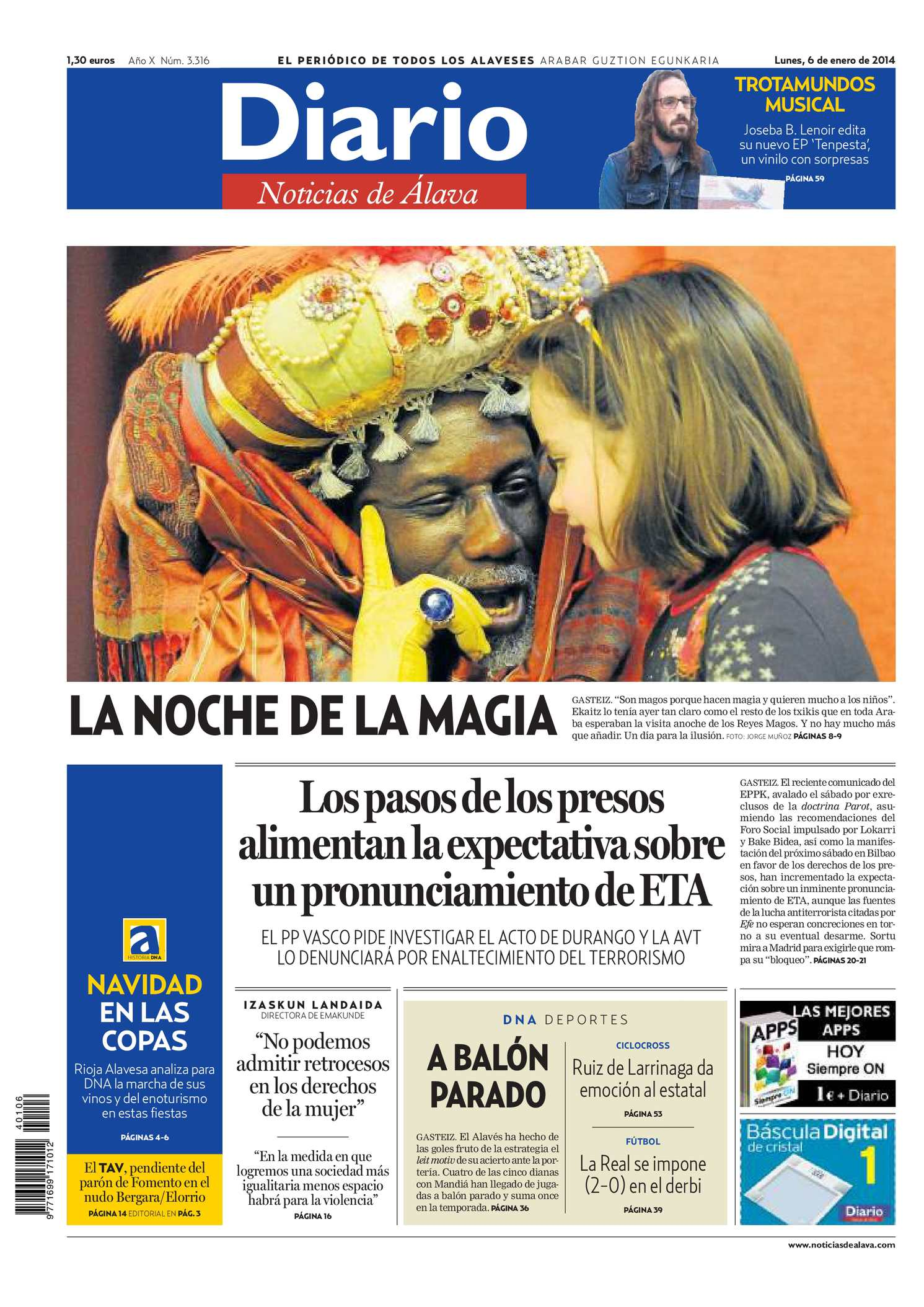 7fc07d8f34 Calaméo - Diario de Noticias de Álava 20140106